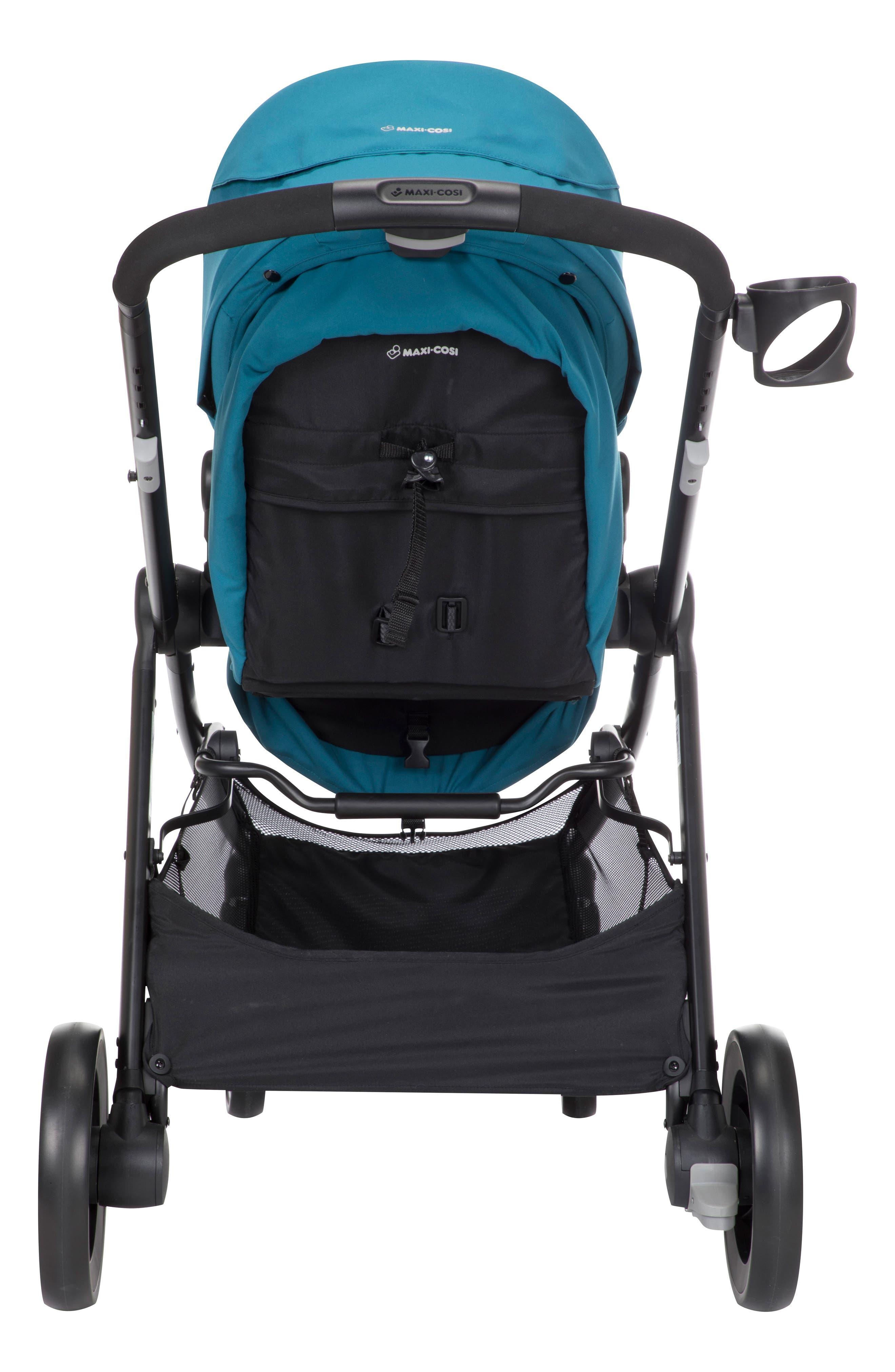 5-1 Mico 30 Infant Car Seat & Zelia Stroller Modular Travel System,                             Alternate thumbnail 3, color,                             EMERALD TIDE