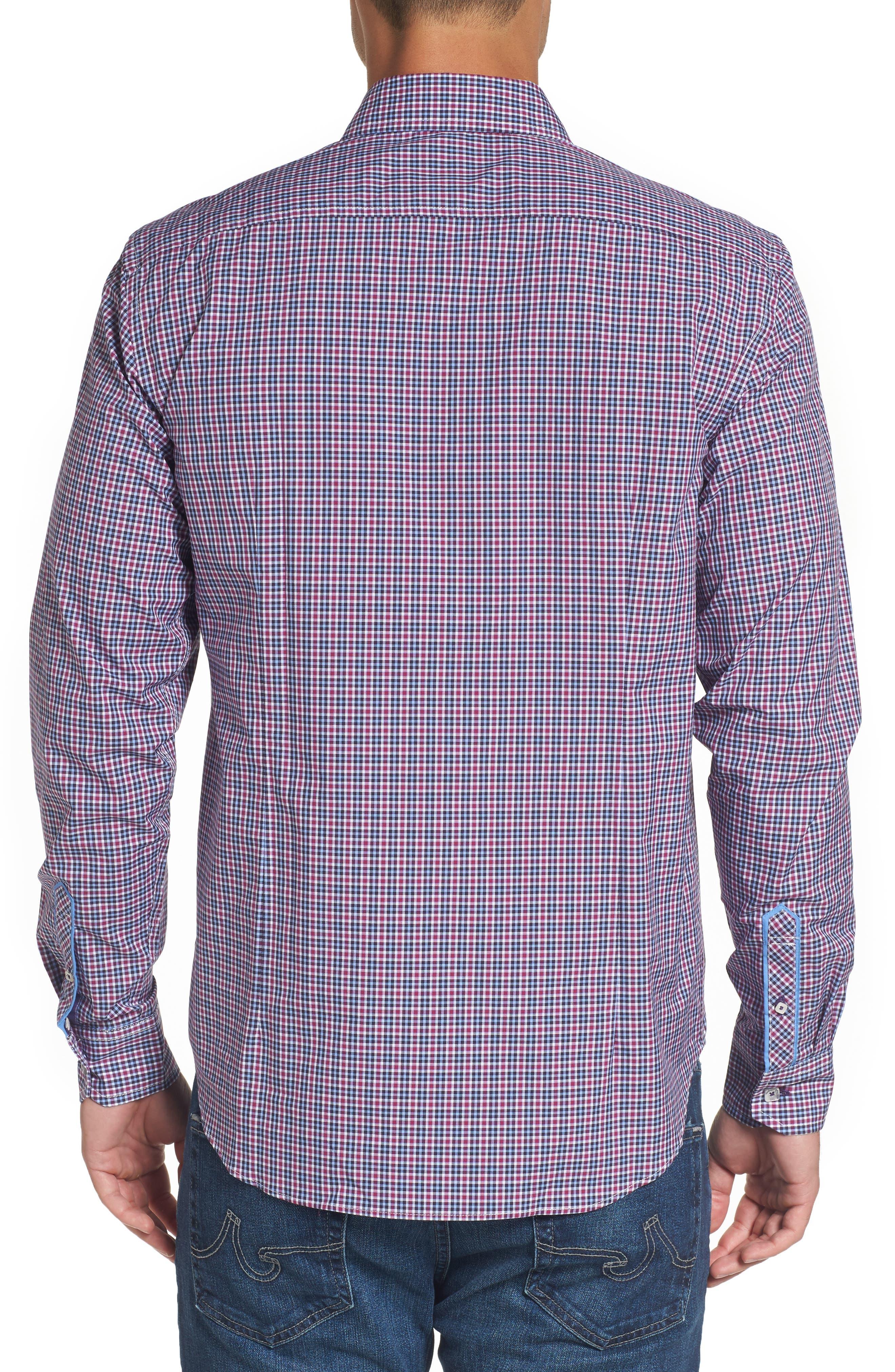 Comfort Fit Plaid Sport Shirt,                             Alternate thumbnail 2, color,                             514