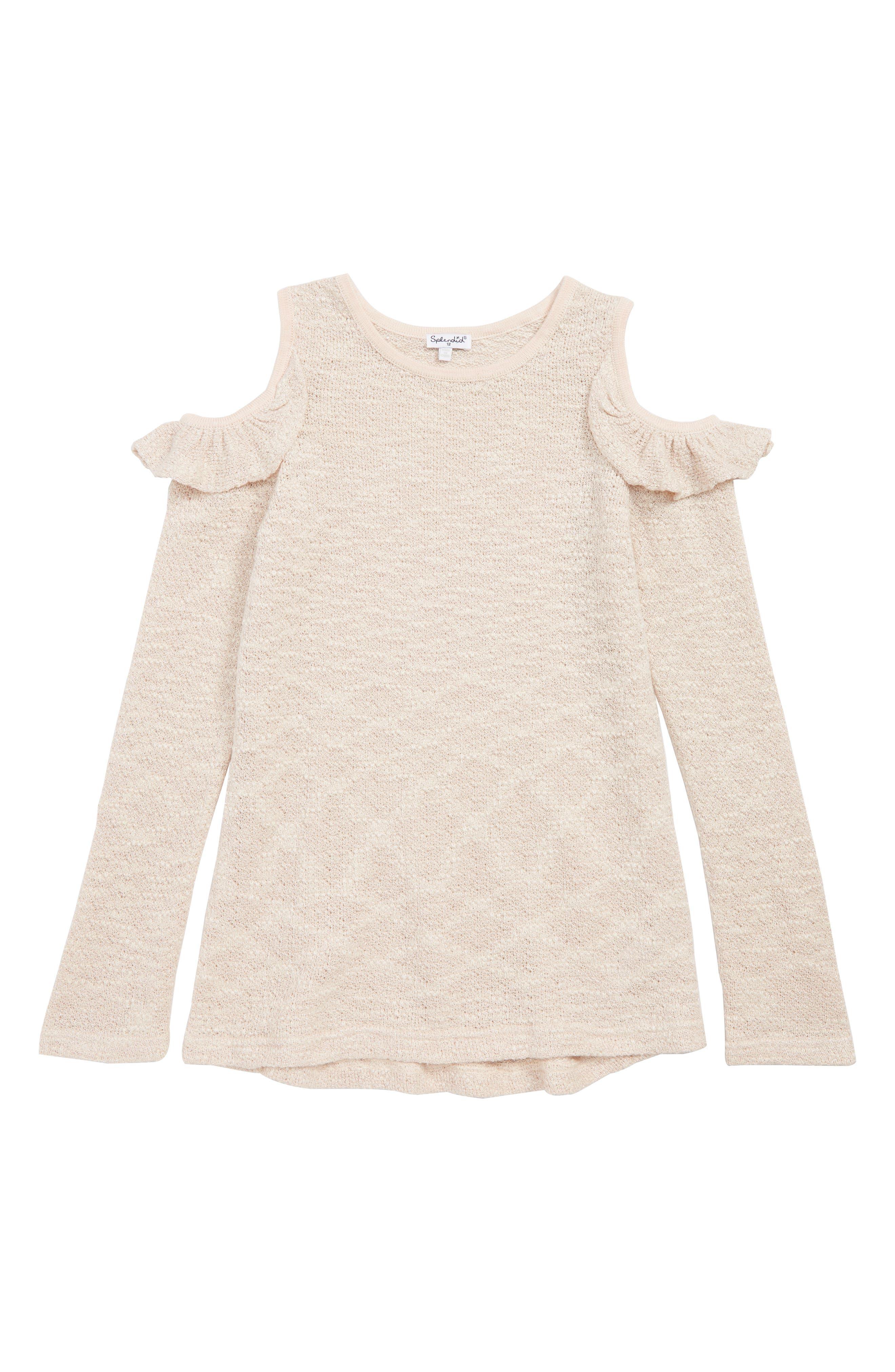 Cold Shoulder Sparkle Sweater,                             Main thumbnail 1, color,                             691