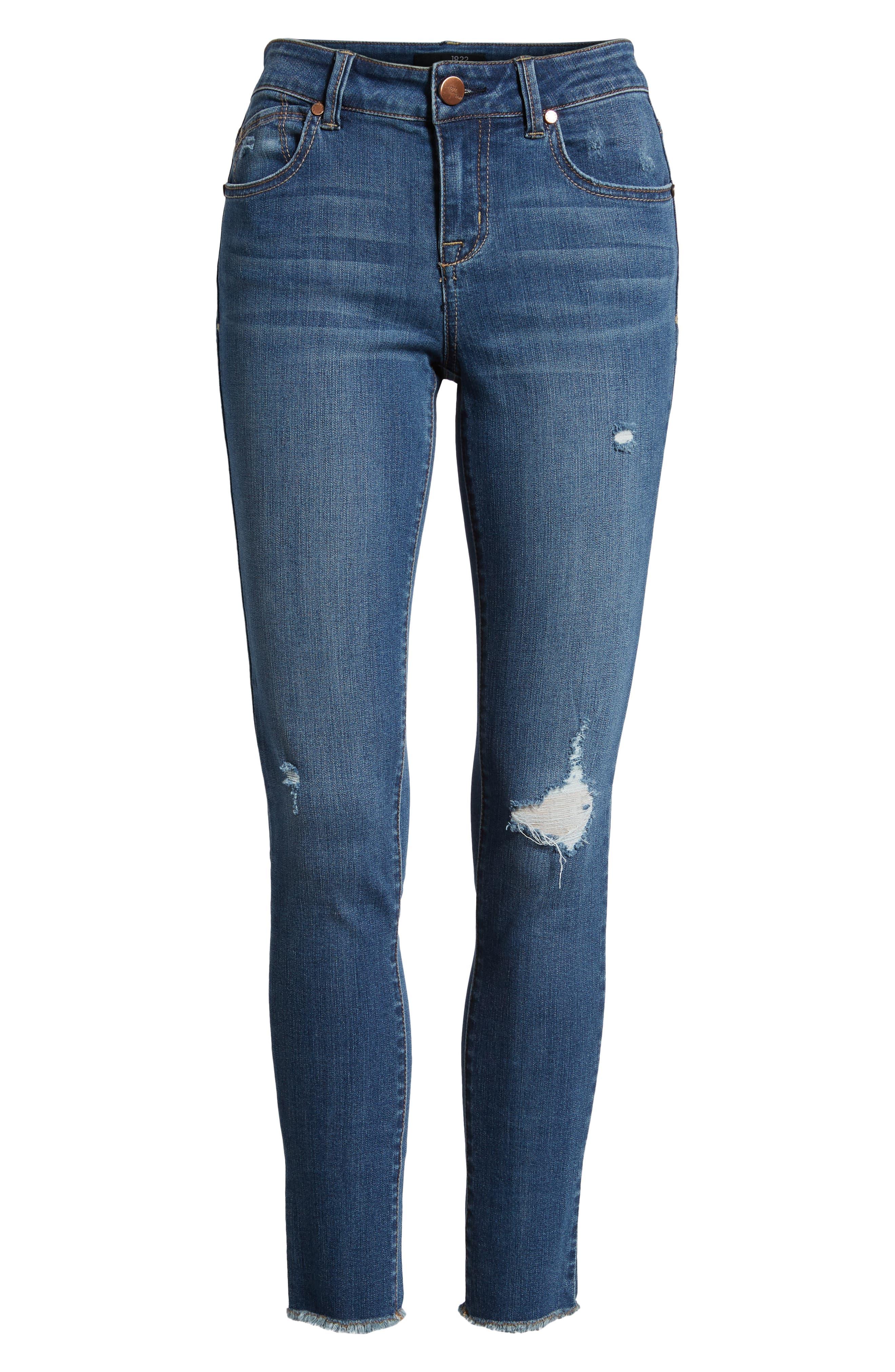 1822 DENIM,                             Distressed Skinny Jeans,                             Alternate thumbnail 7, color,                             CHRISTINA