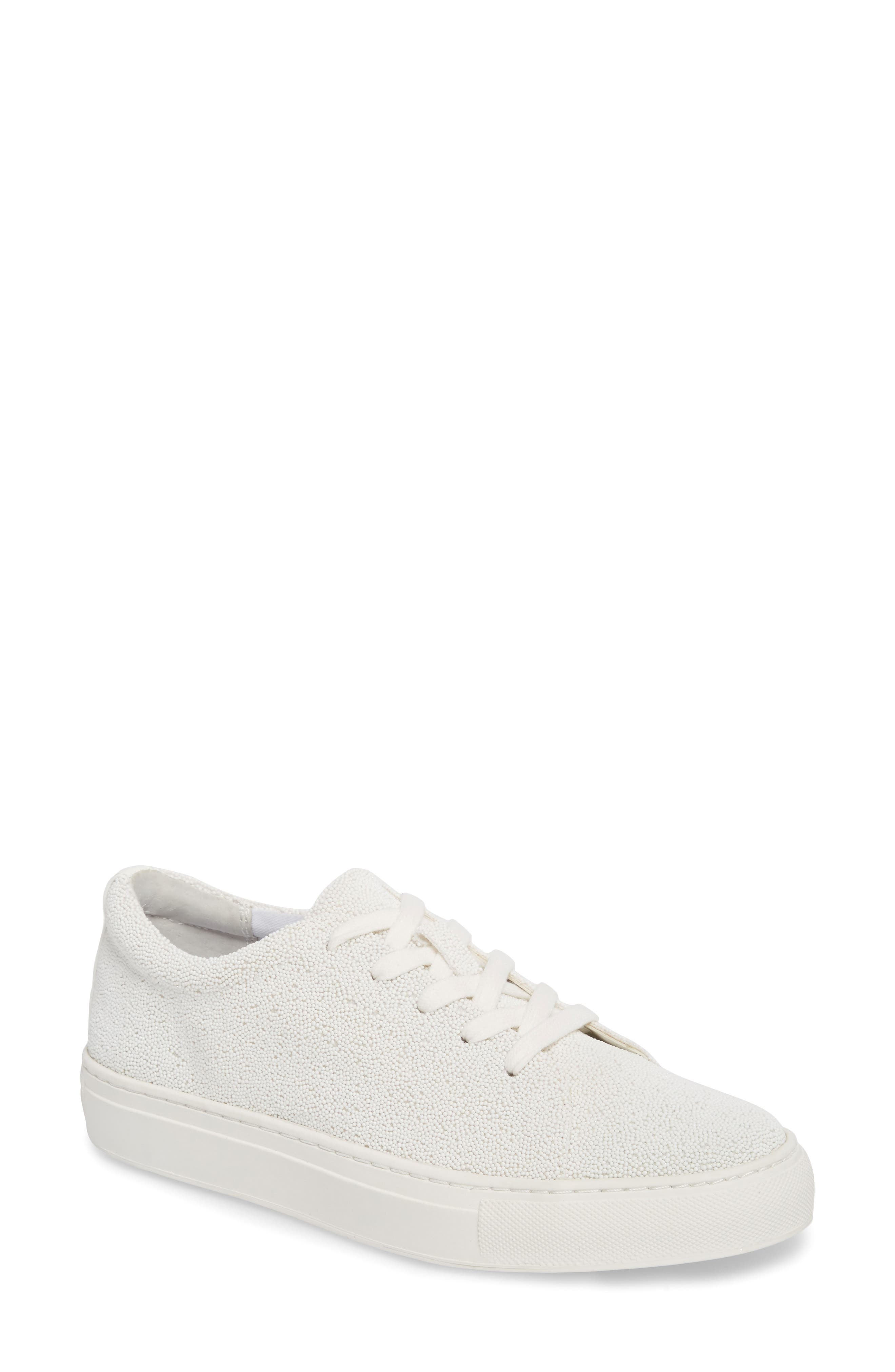 Sneaker,                             Main thumbnail 1, color,                             WHITE FABRIC