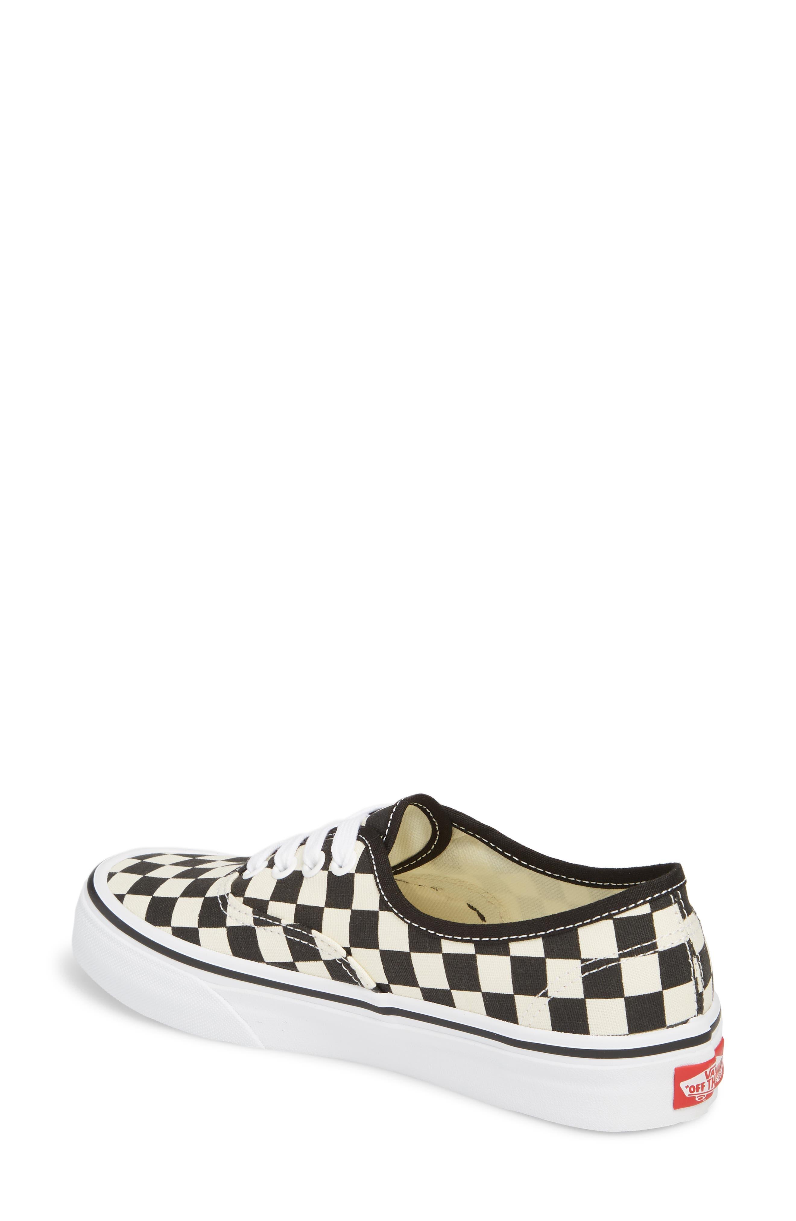 'Authentic' Sneaker,                             Alternate thumbnail 2, color,                             BLACK/ WHITE CHECKER