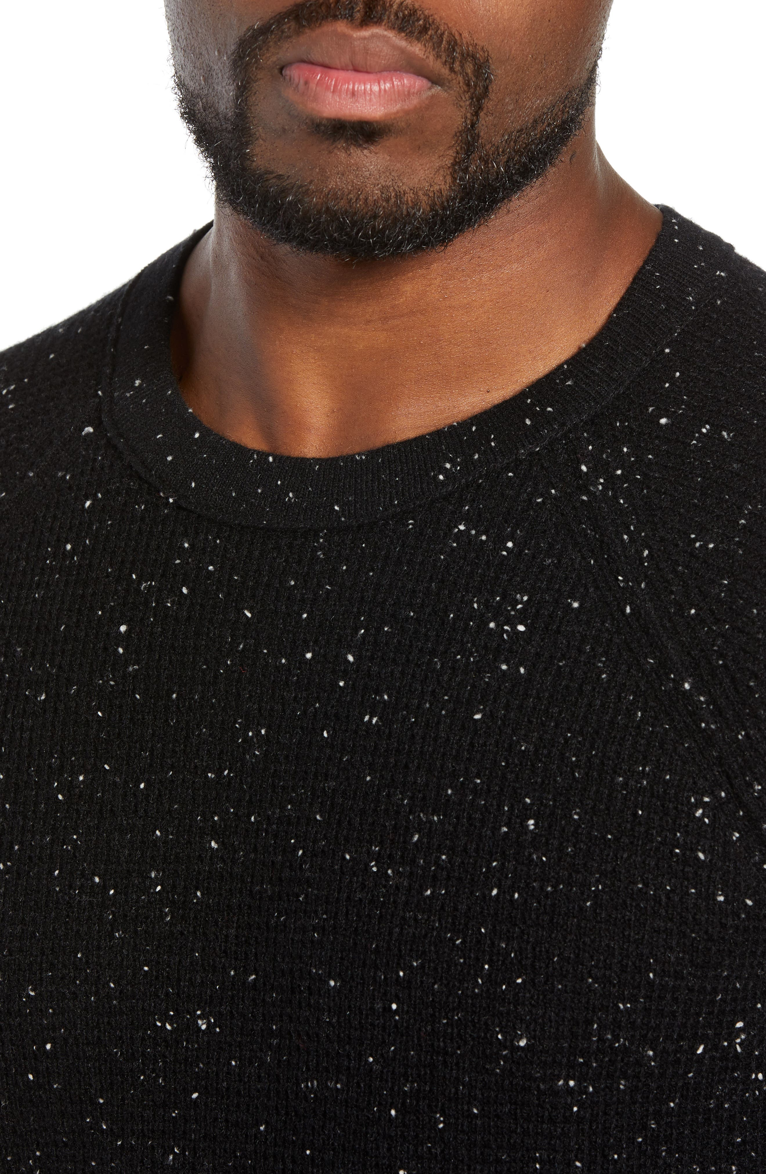 BONOBOS,                             Slim Fit Cashmere Sweater,                             Alternate thumbnail 4, color,                             001