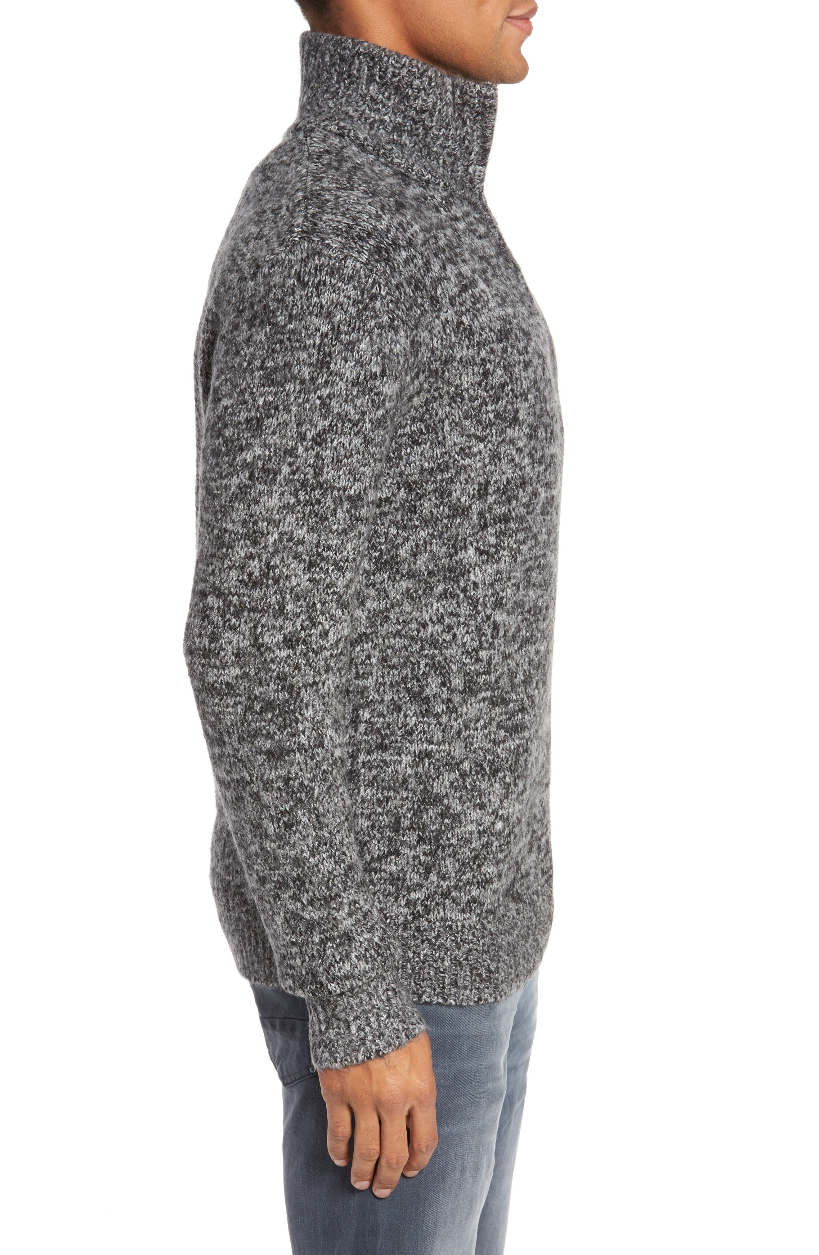 Quarter Zip Knit Pullover,                             Alternate thumbnail 3, color,                             012
