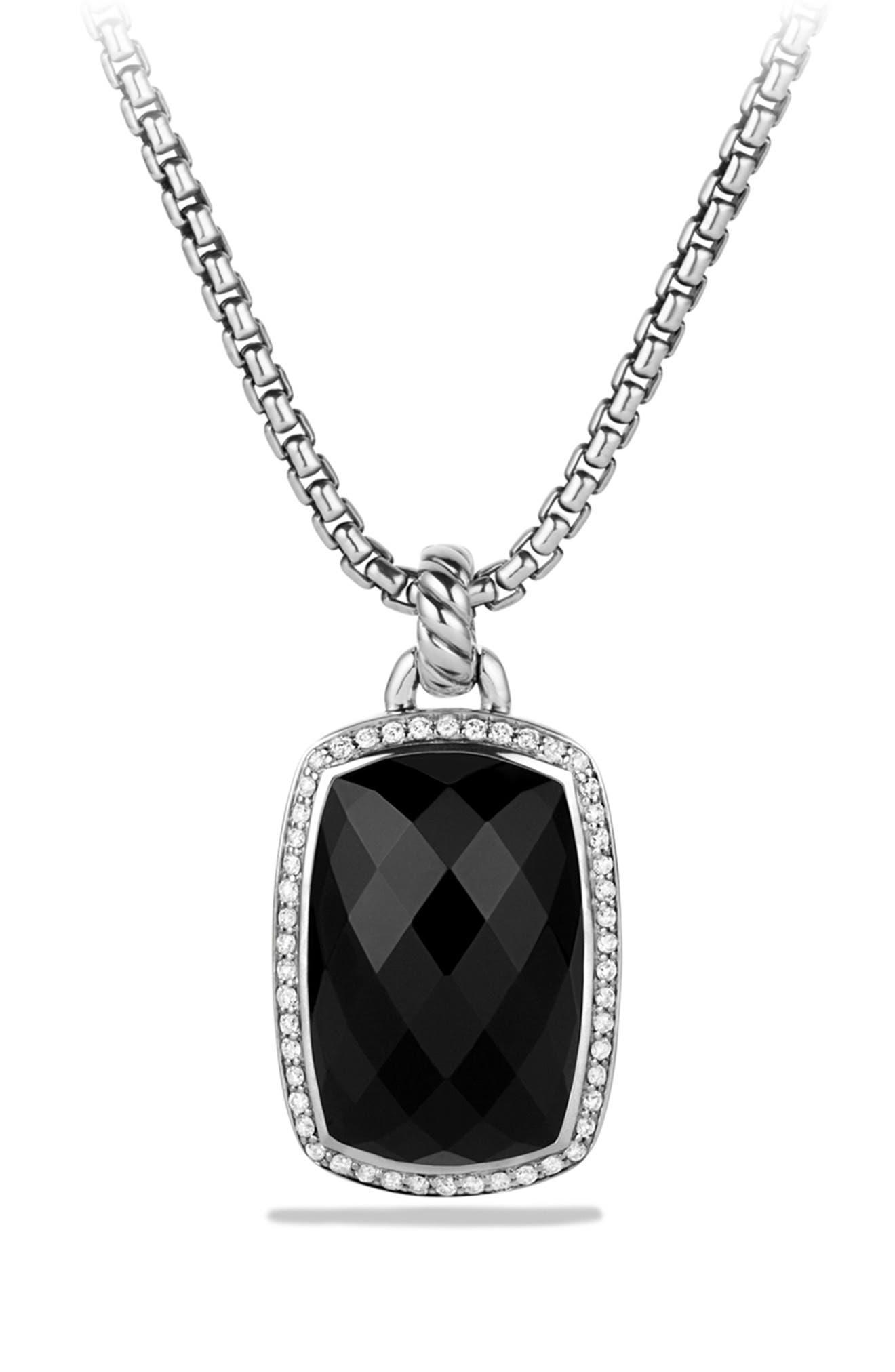 'Albion' Pendant with Semiprecious Stone and Diamonds,                             Alternate thumbnail 5, color,