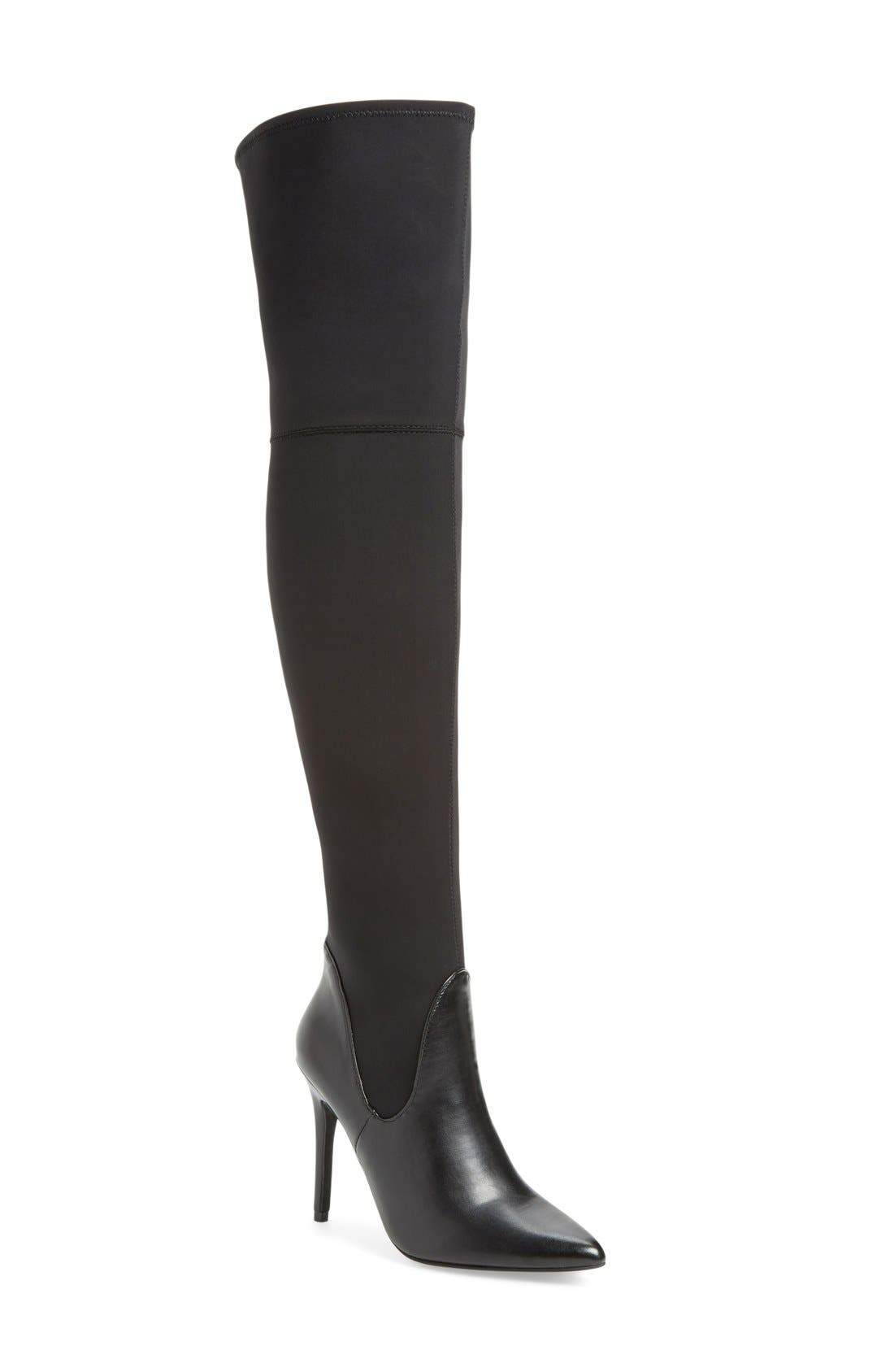 Premium Over the Knee Boot,                             Main thumbnail 1, color,                             001