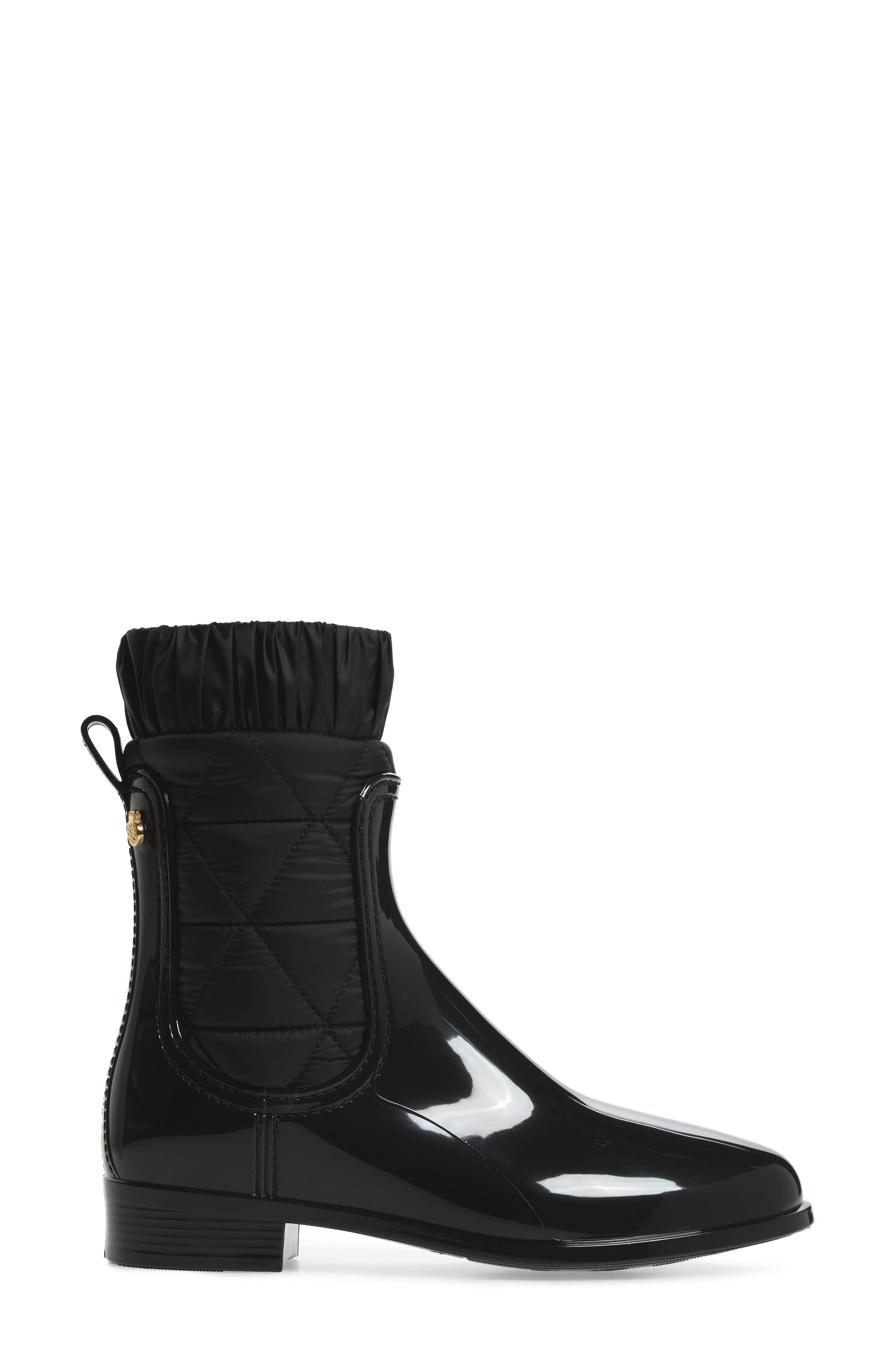 Adele Waterproof Boot,                             Alternate thumbnail 3, color,                             BLACK GLOSS