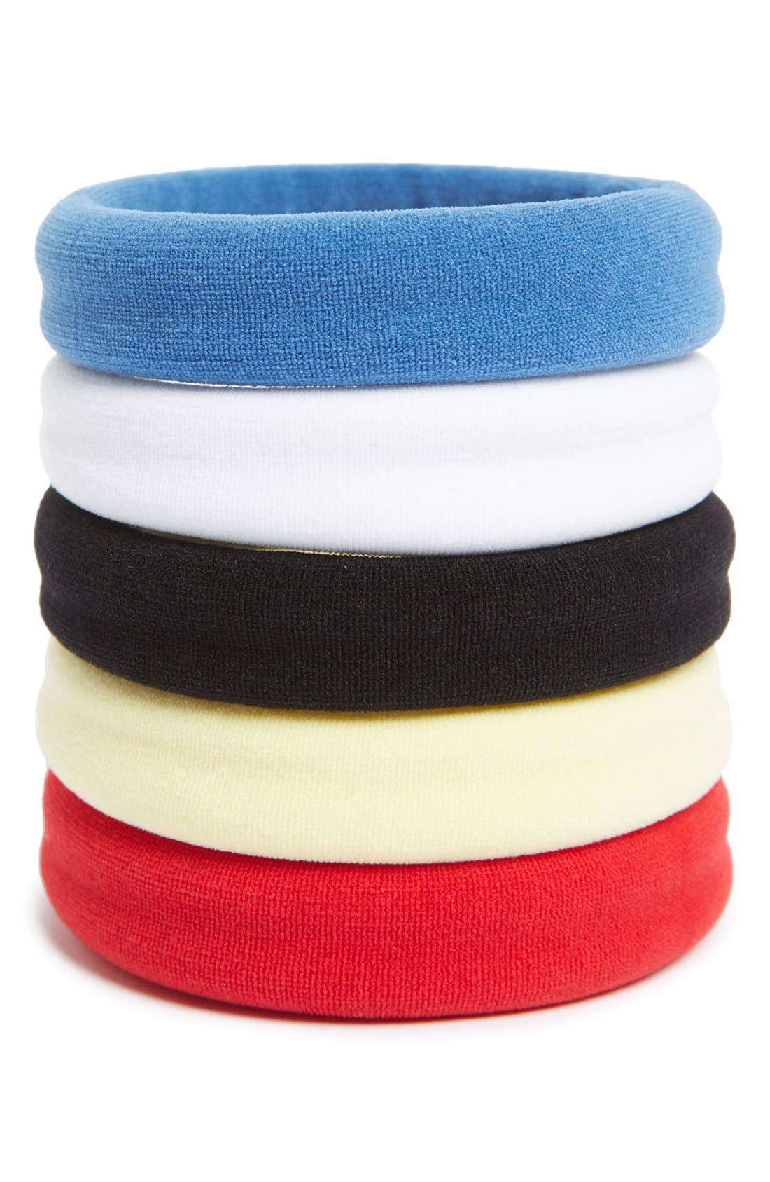 Set of 5 Sport Ponytail Holders,                             Main thumbnail 12, color,