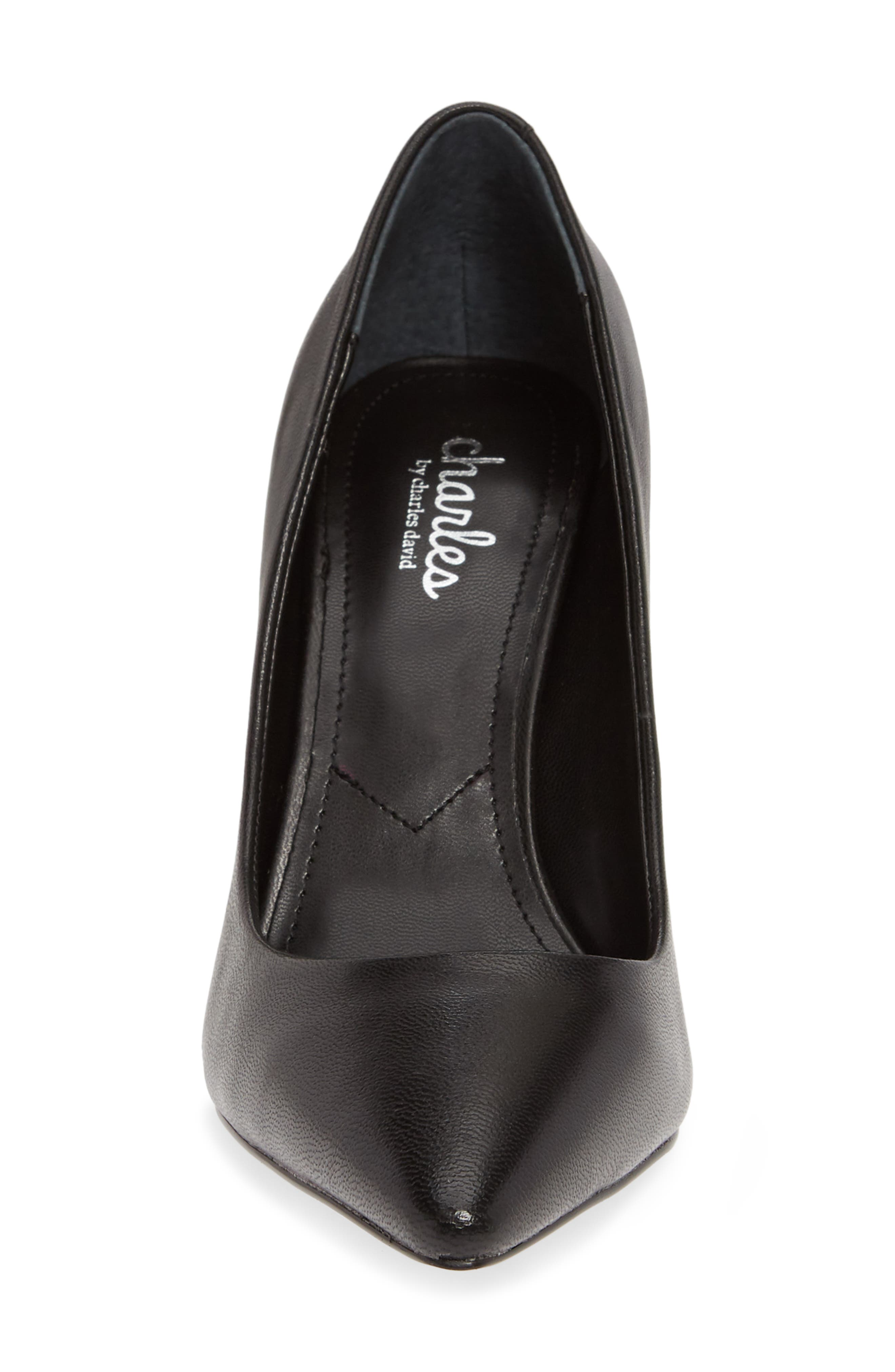 CHARLES BY CHARLES DAVID,                             Vicky Pump,                             Alternate thumbnail 4, color,                             BLACK LEATHER