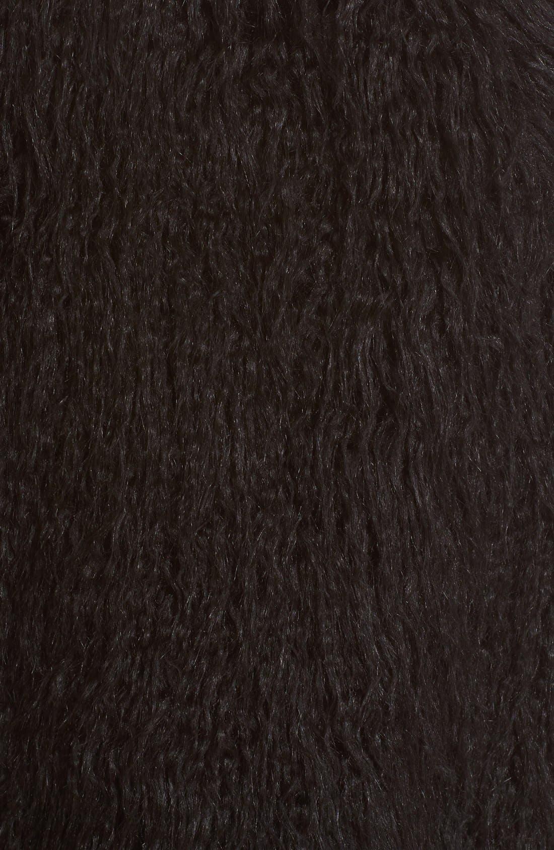 Nyma V Cody Shaggy Faux Fur Front Long Vest,                             Alternate thumbnail 5, color,                             001