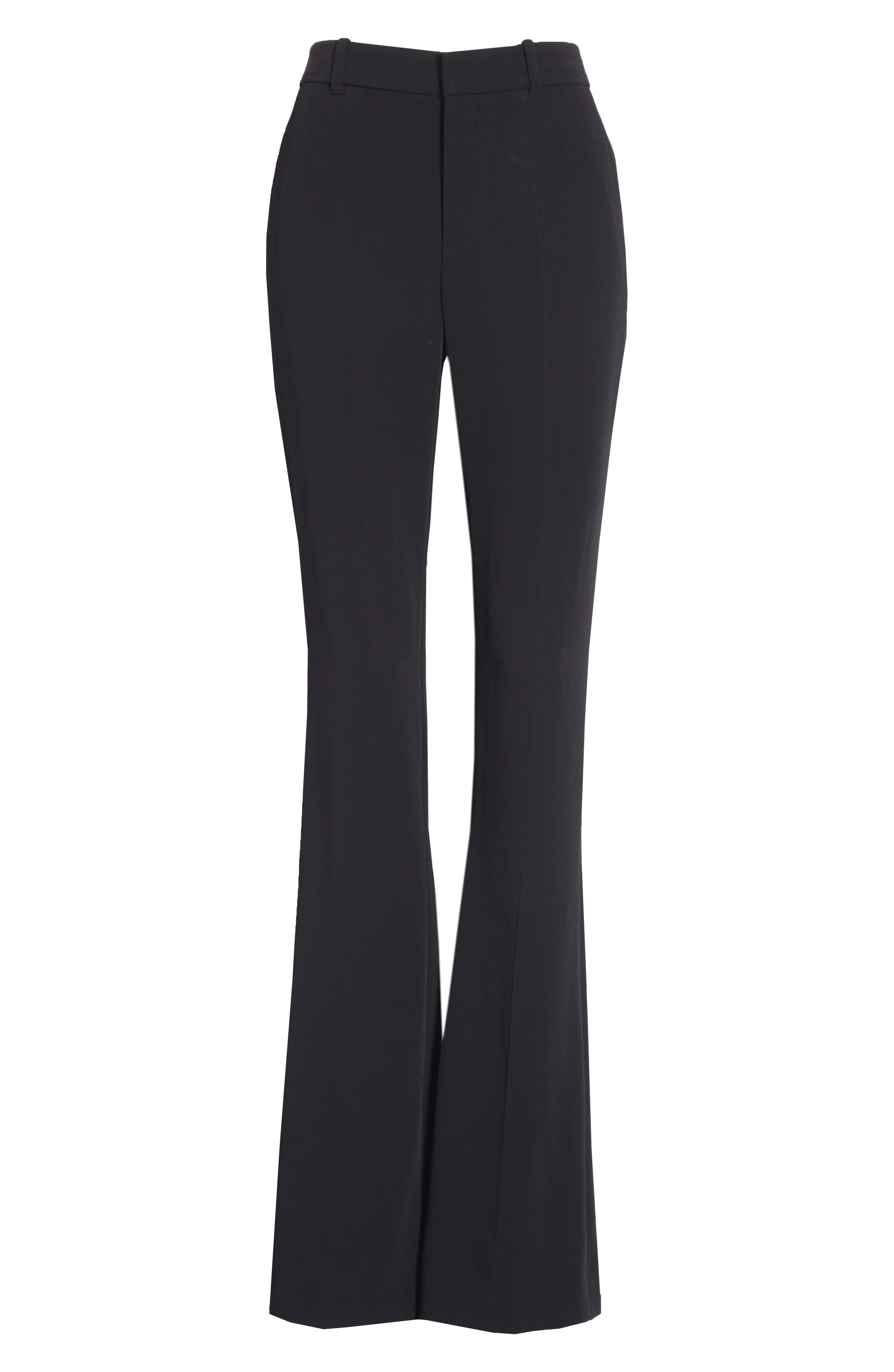 Stretch Cady Skinny Flare Pants,                             Alternate thumbnail 5, color,                             BLACK