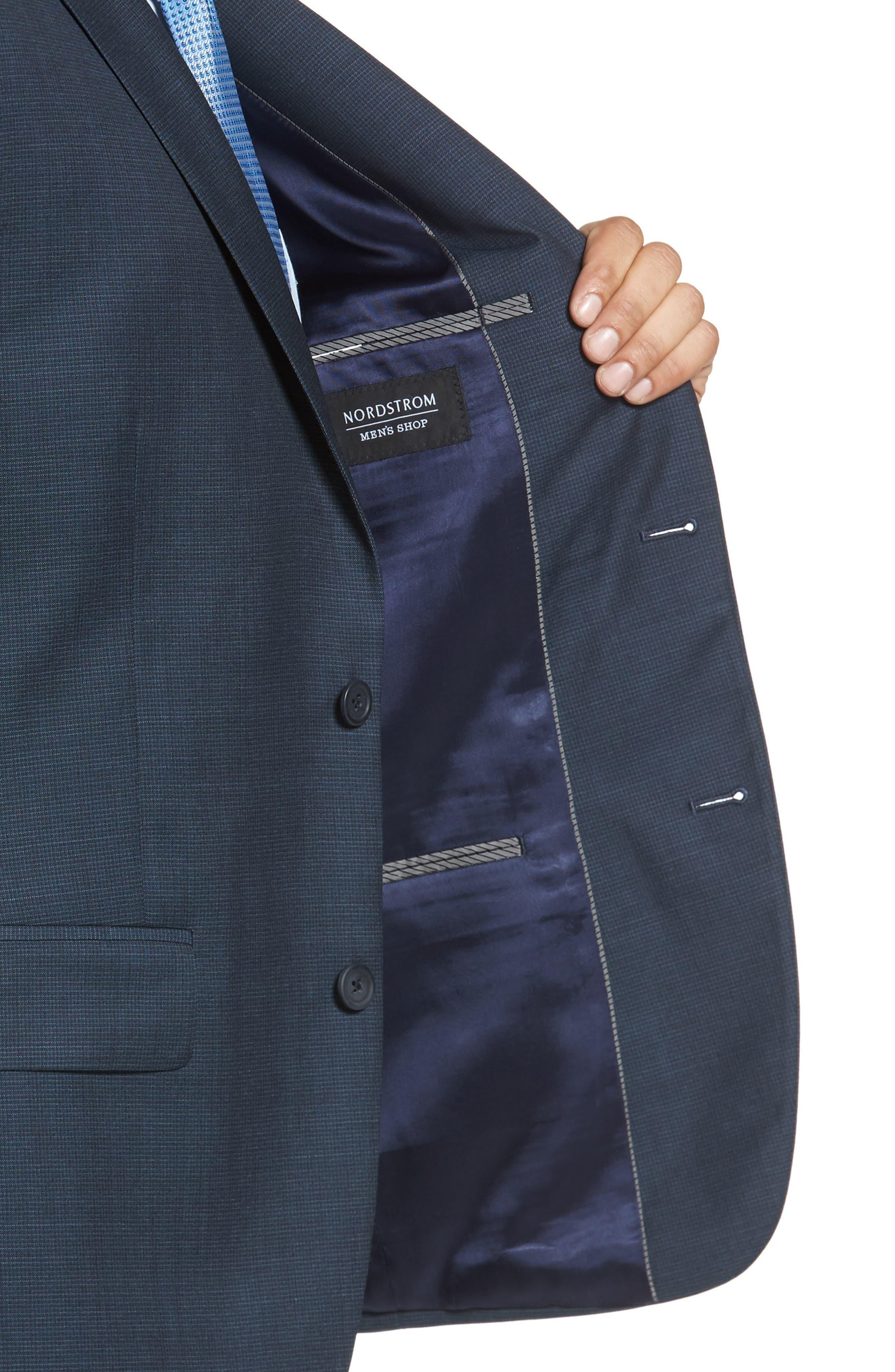 Classic Fit Check Wool Suit,                             Alternate thumbnail 16, color,