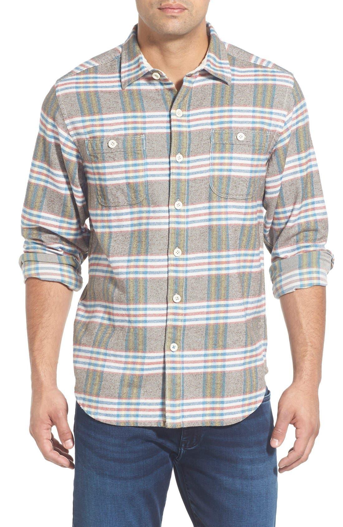 'Flannel Time' Original FitPlaid Flannel Shirt,                             Main thumbnail 1, color,                             200