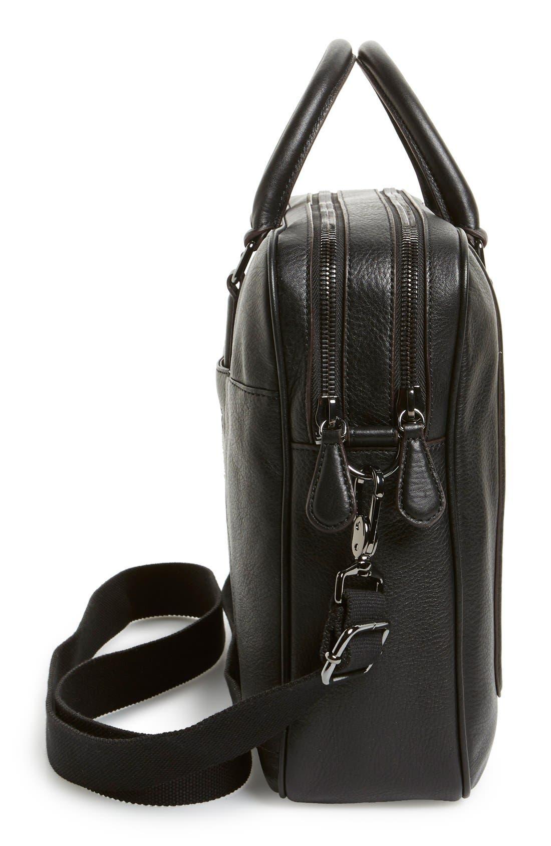 'Ragna' Leather Bowler Bag,                             Alternate thumbnail 5, color,                             001