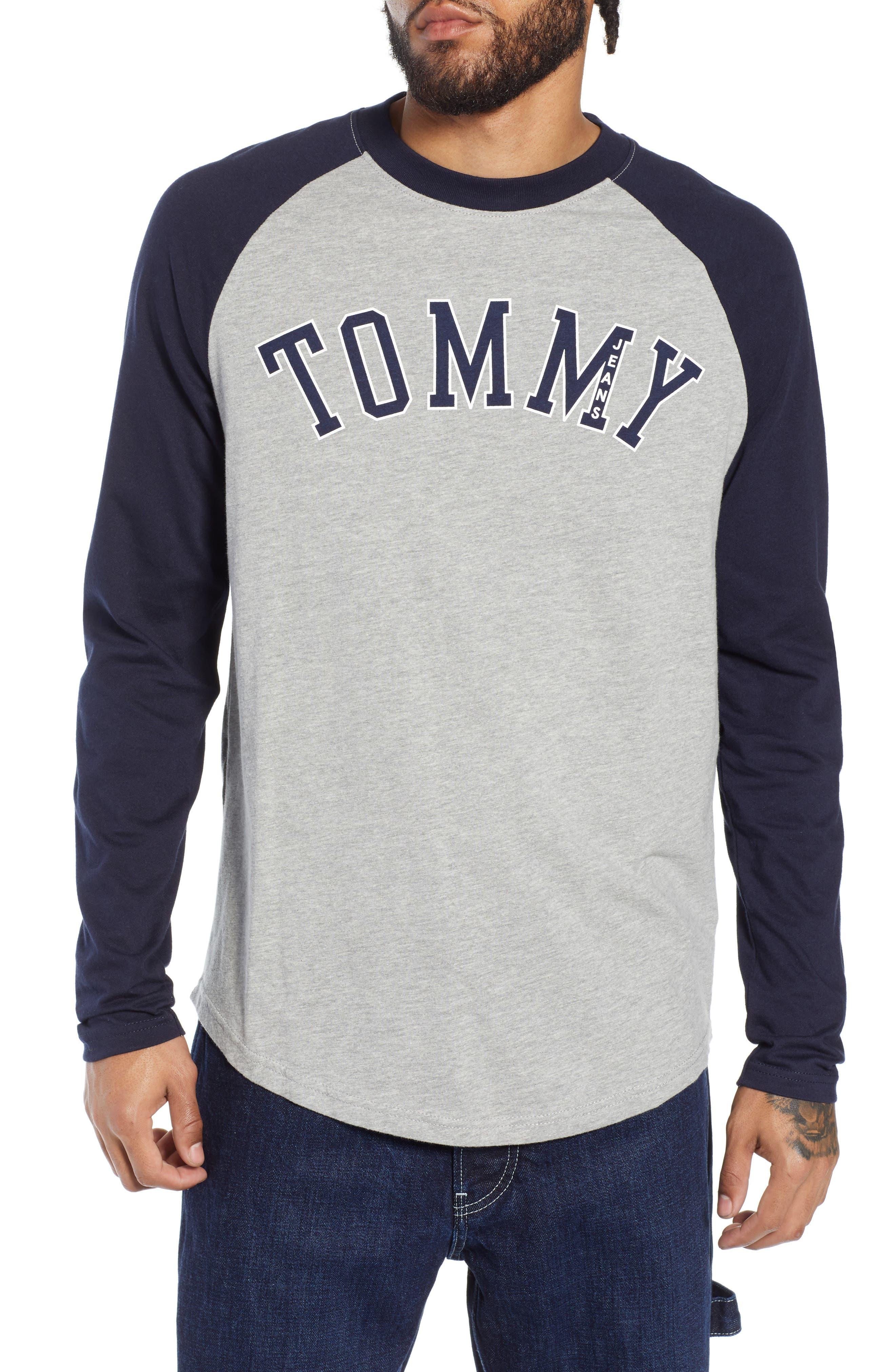 Tommy Jeans Long Sleeve Raglan T-Shirt, Blue