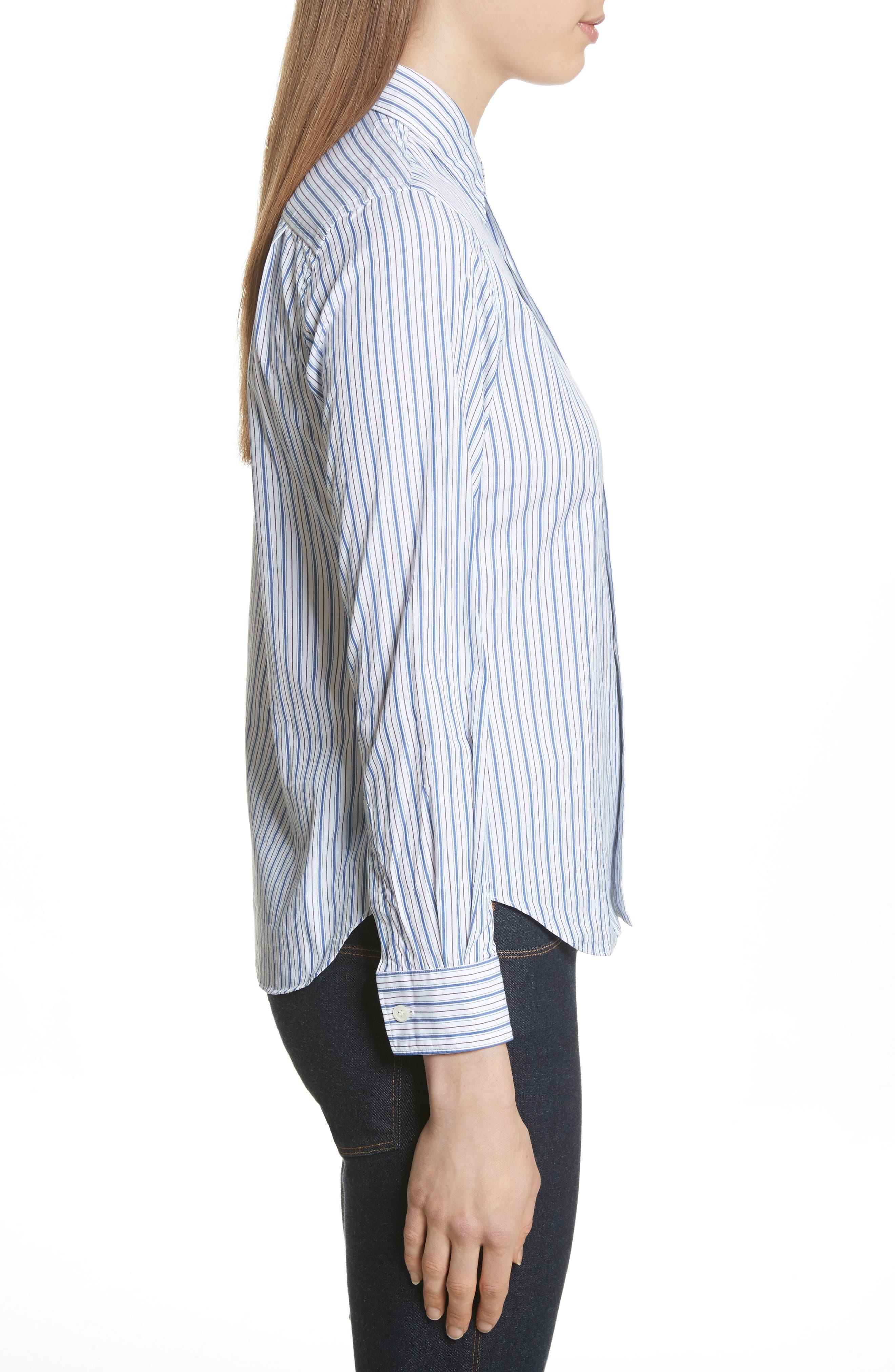 Stripe Shirt,                             Alternate thumbnail 3, color,                             BLUE