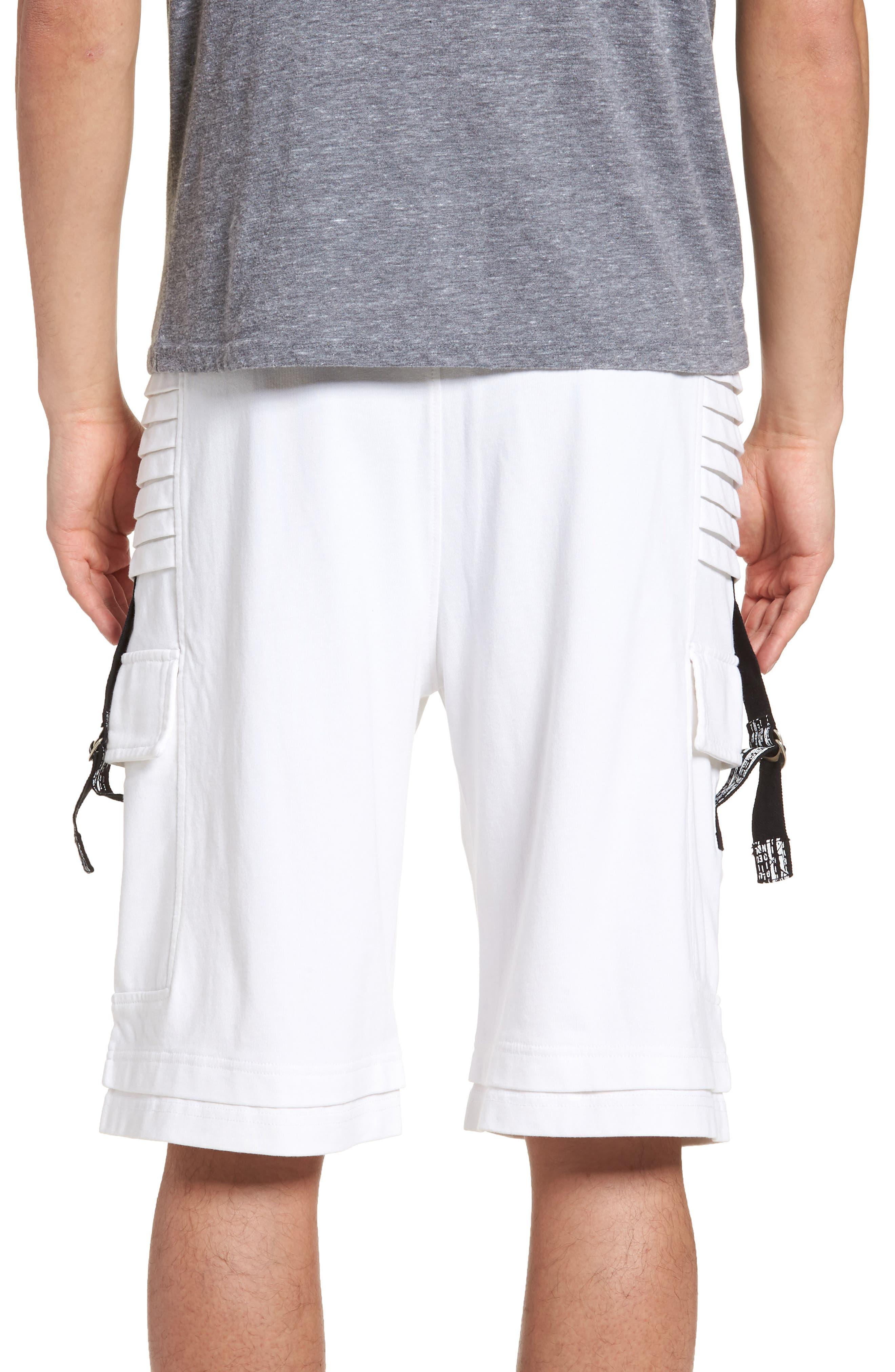 Moto Shorts,                             Alternate thumbnail 2, color,                             WHITE