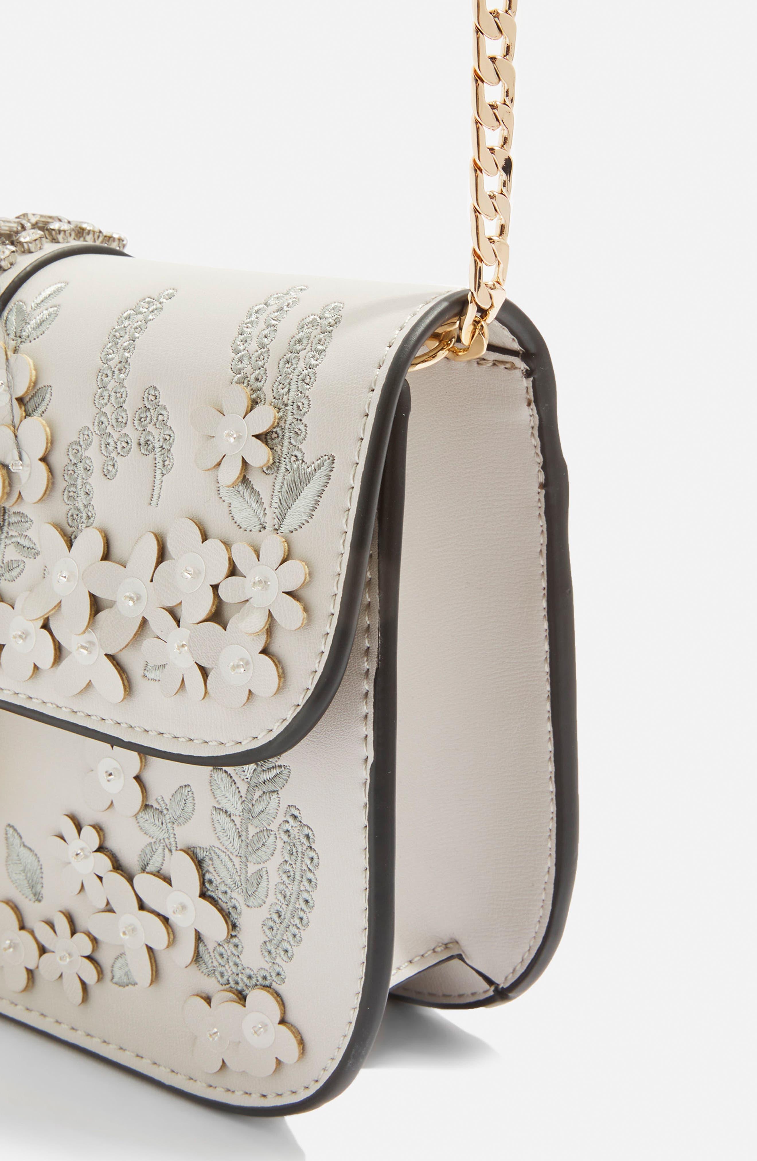 Petal 3D Flower Embroidered Crossbody Bag,                             Alternate thumbnail 5, color,