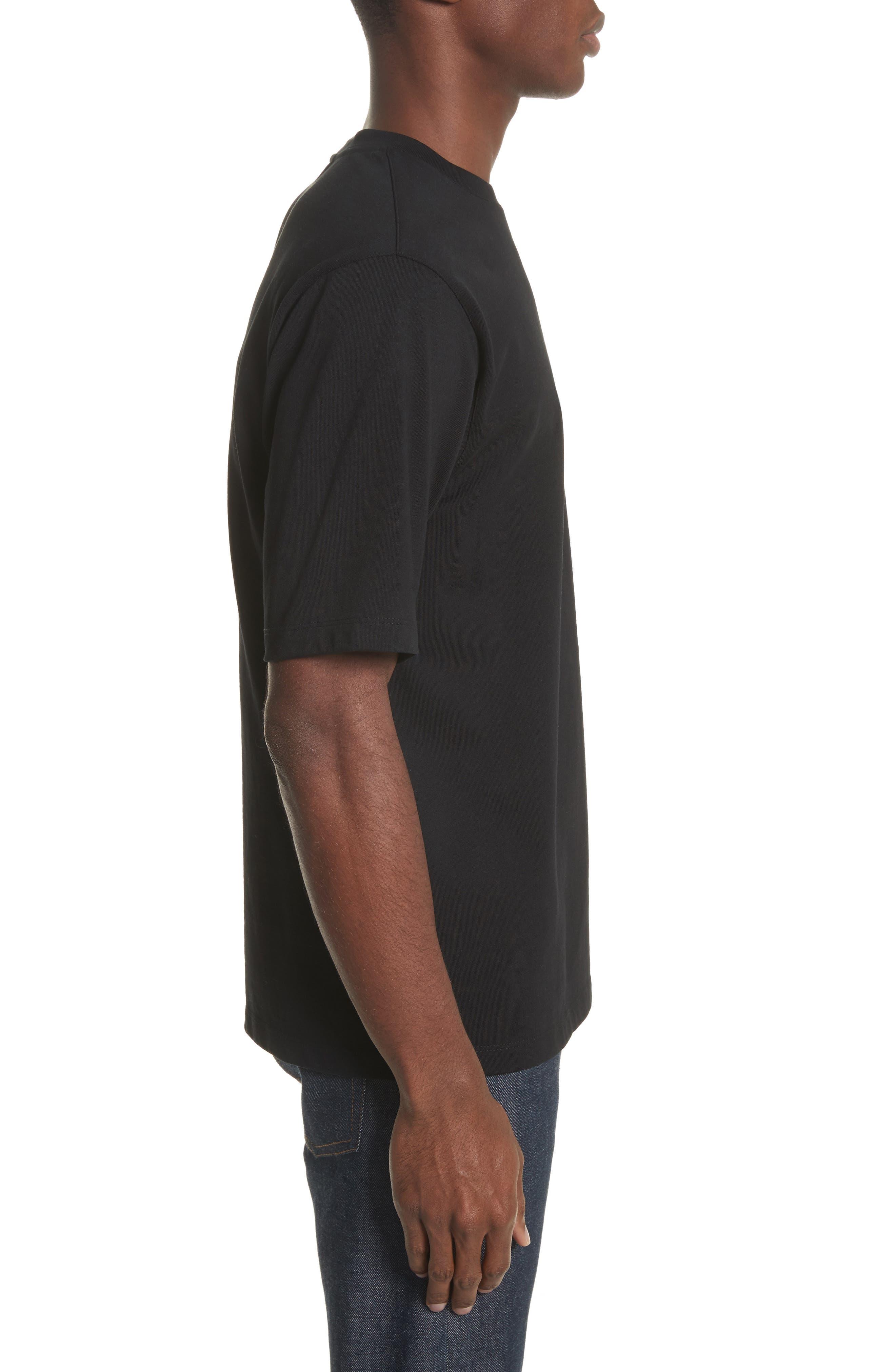Pinstripe Pocket T-Shirt,                             Alternate thumbnail 3, color,