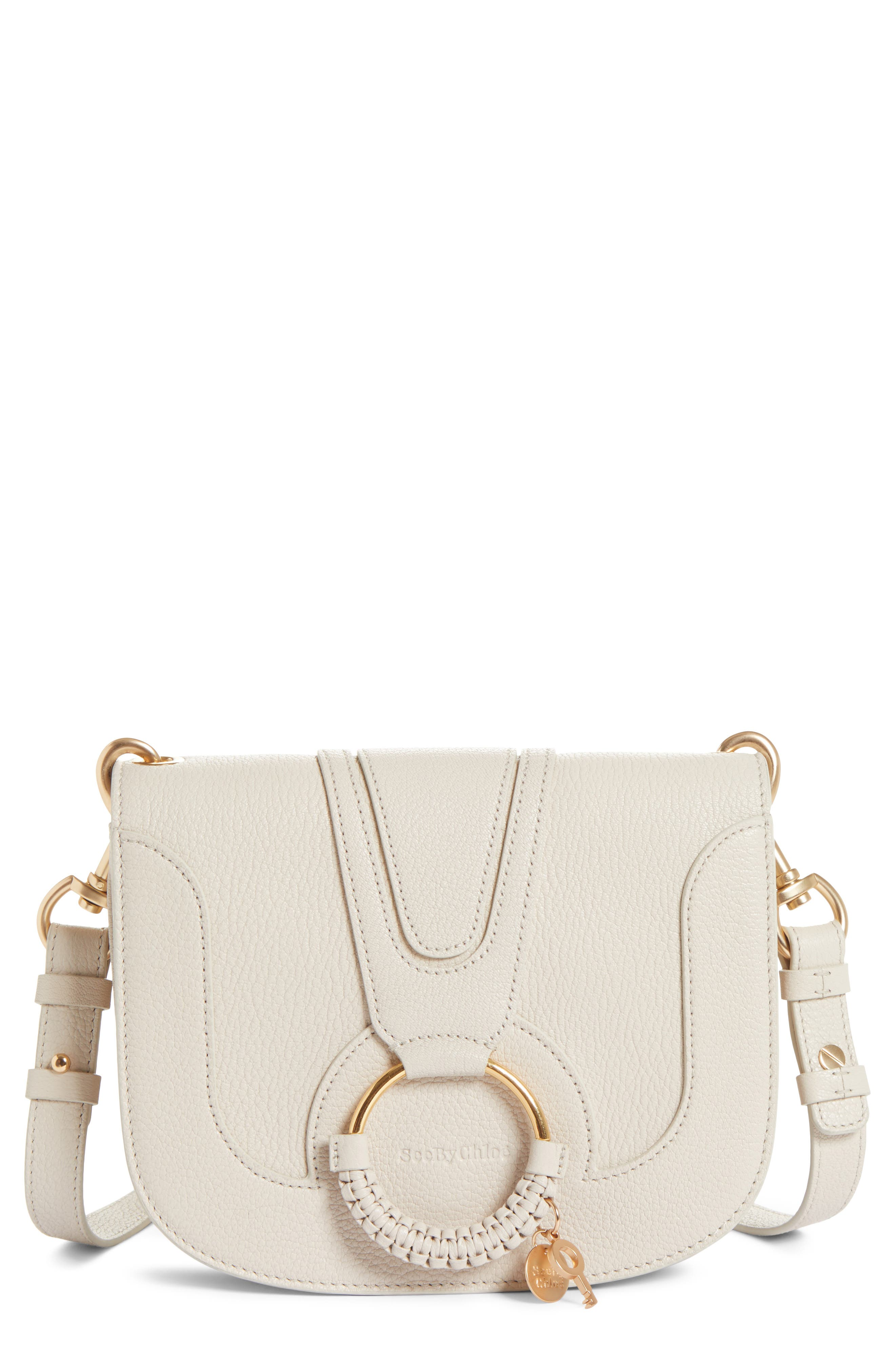Hana Small Leather Crossbody Bag,                             Main thumbnail 4, color,