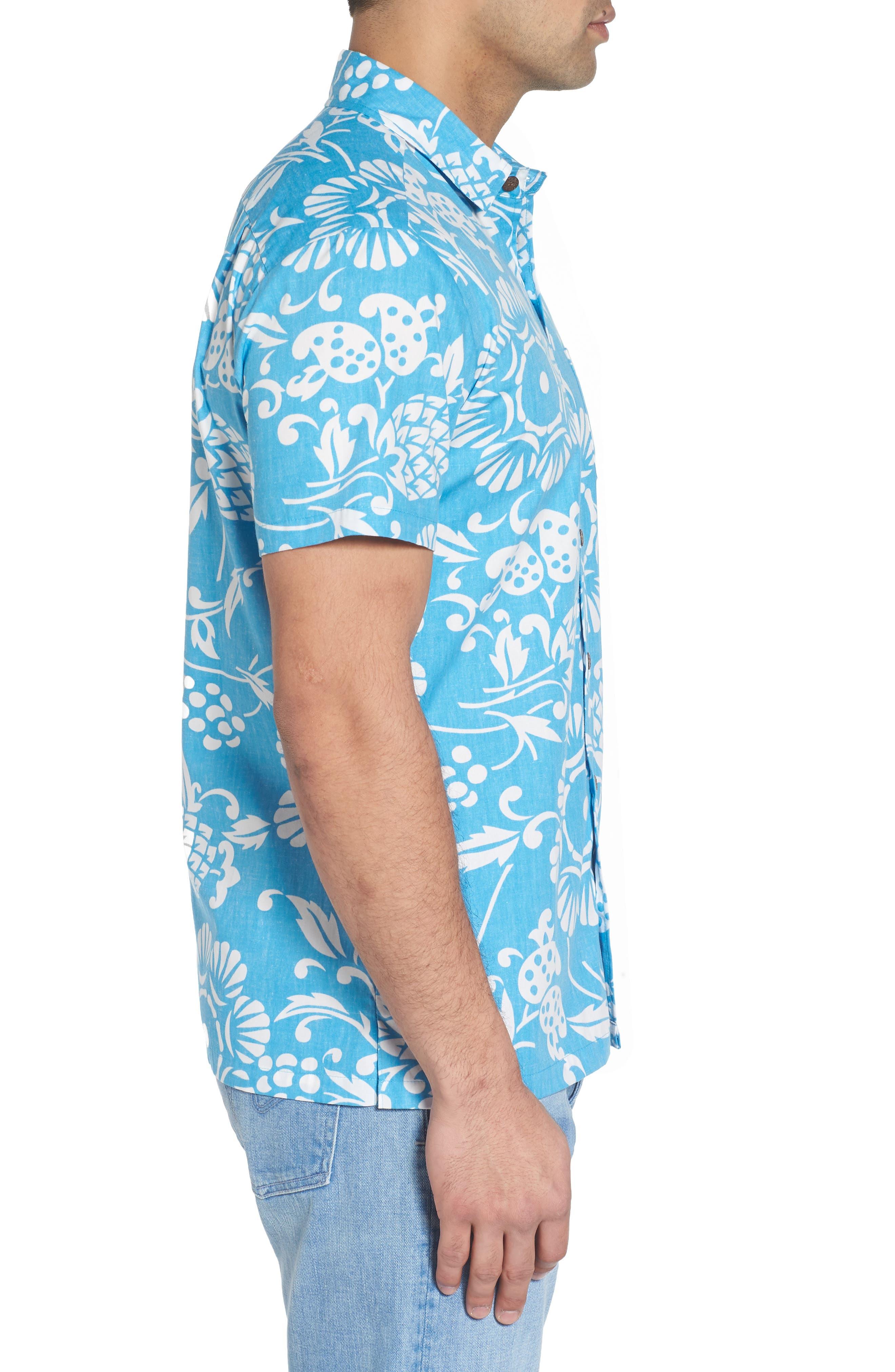 Duke's Pareo Trim Fit Sport Shirt,                             Alternate thumbnail 3, color,                             SKY BLUE