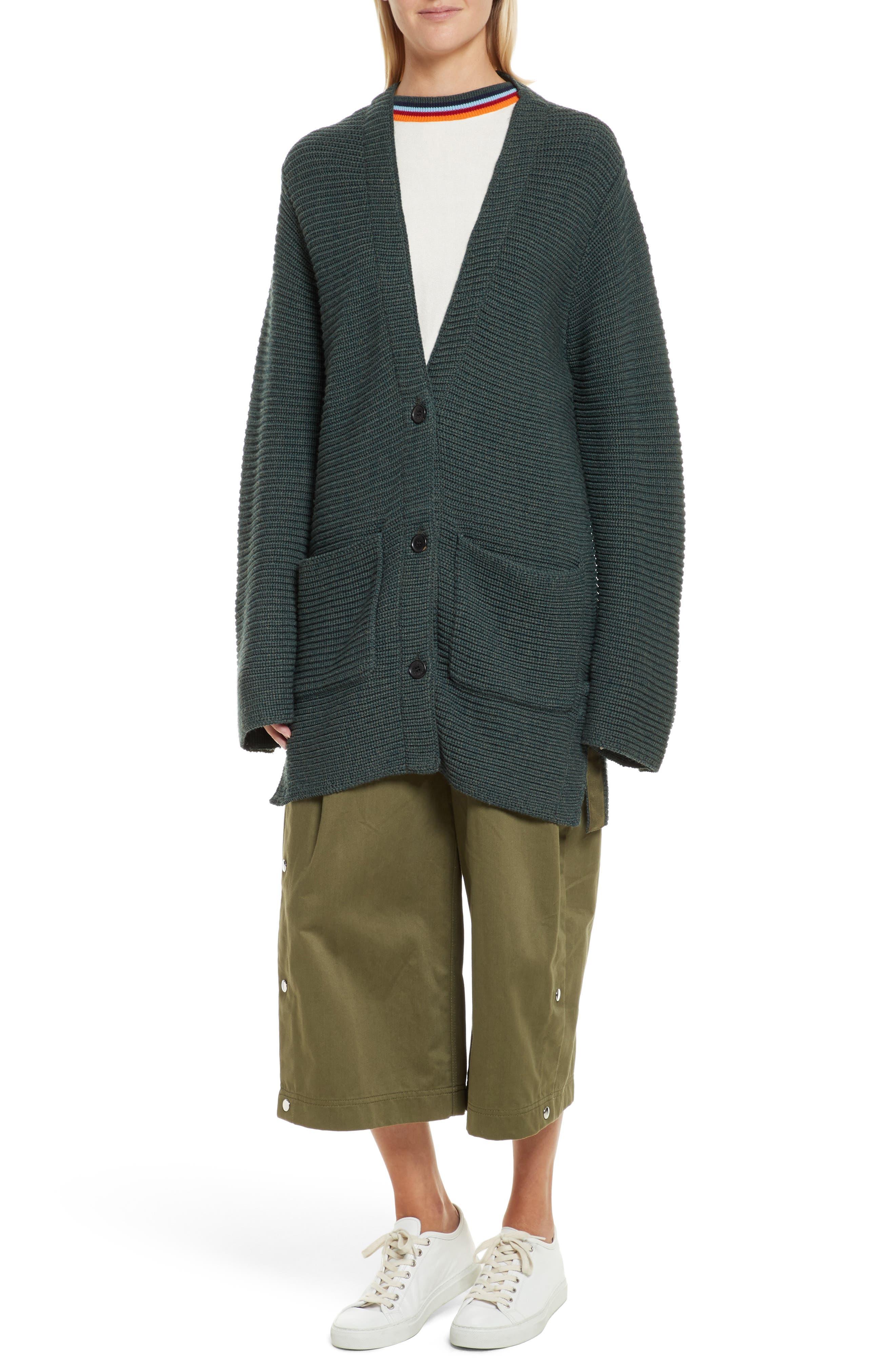 Nell Stripe Cotton Blend Sweater,                             Alternate thumbnail 7, color,