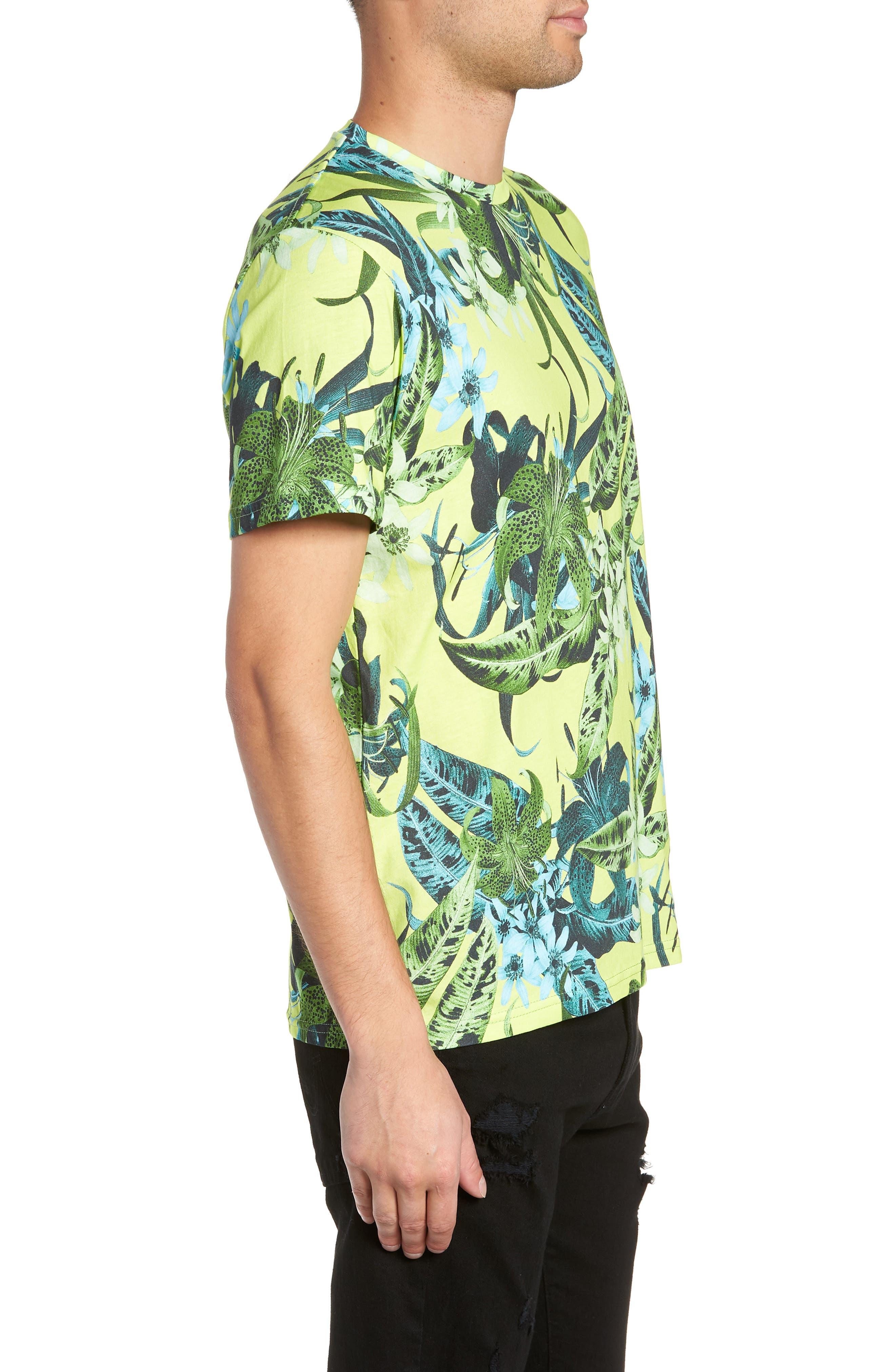 Classic Floral Shirt,                             Alternate thumbnail 3, color,                             GREEN