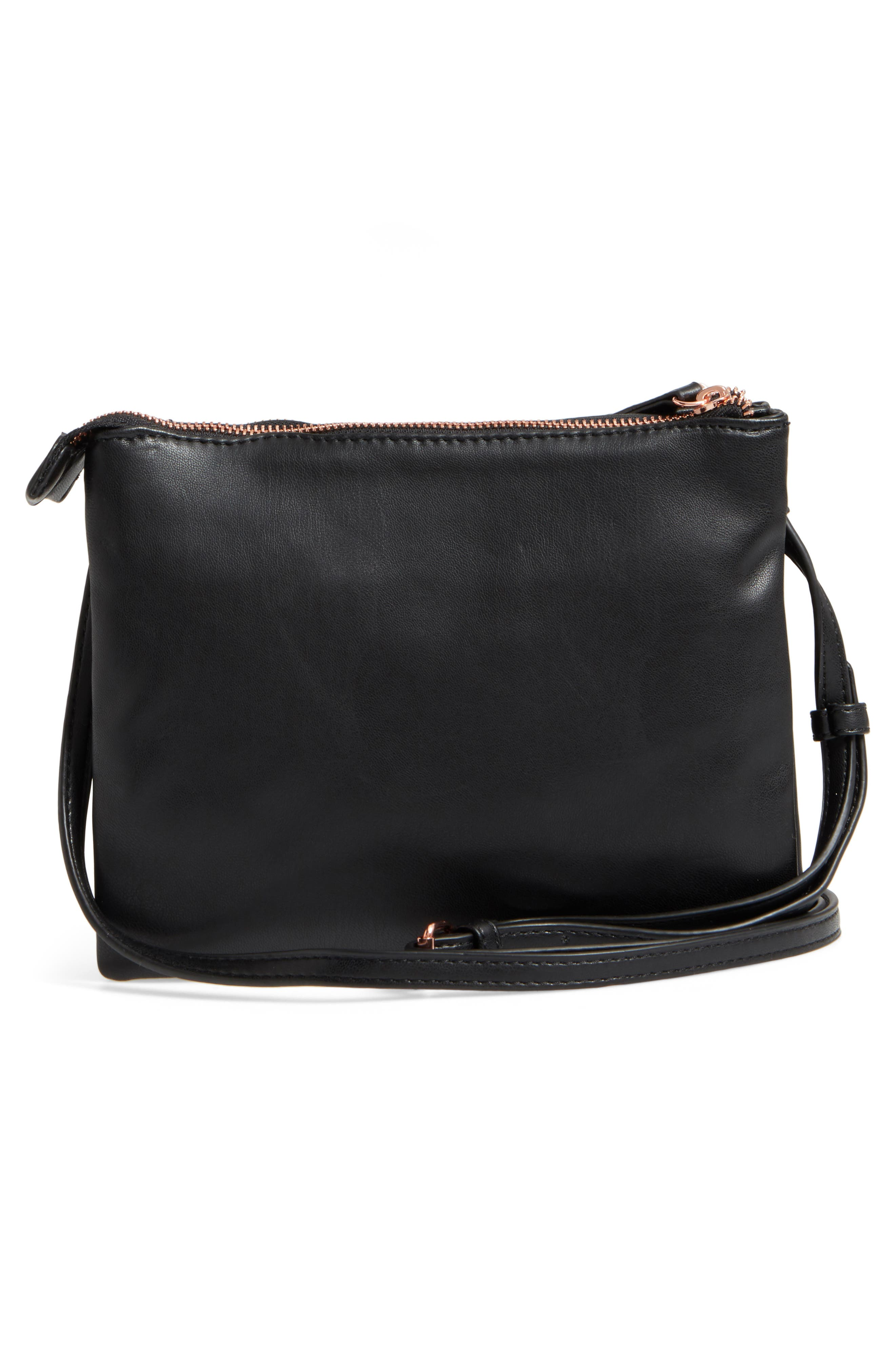 Madden Faux Leather Pouch Crossbody Bag,                             Alternate thumbnail 7, color,
