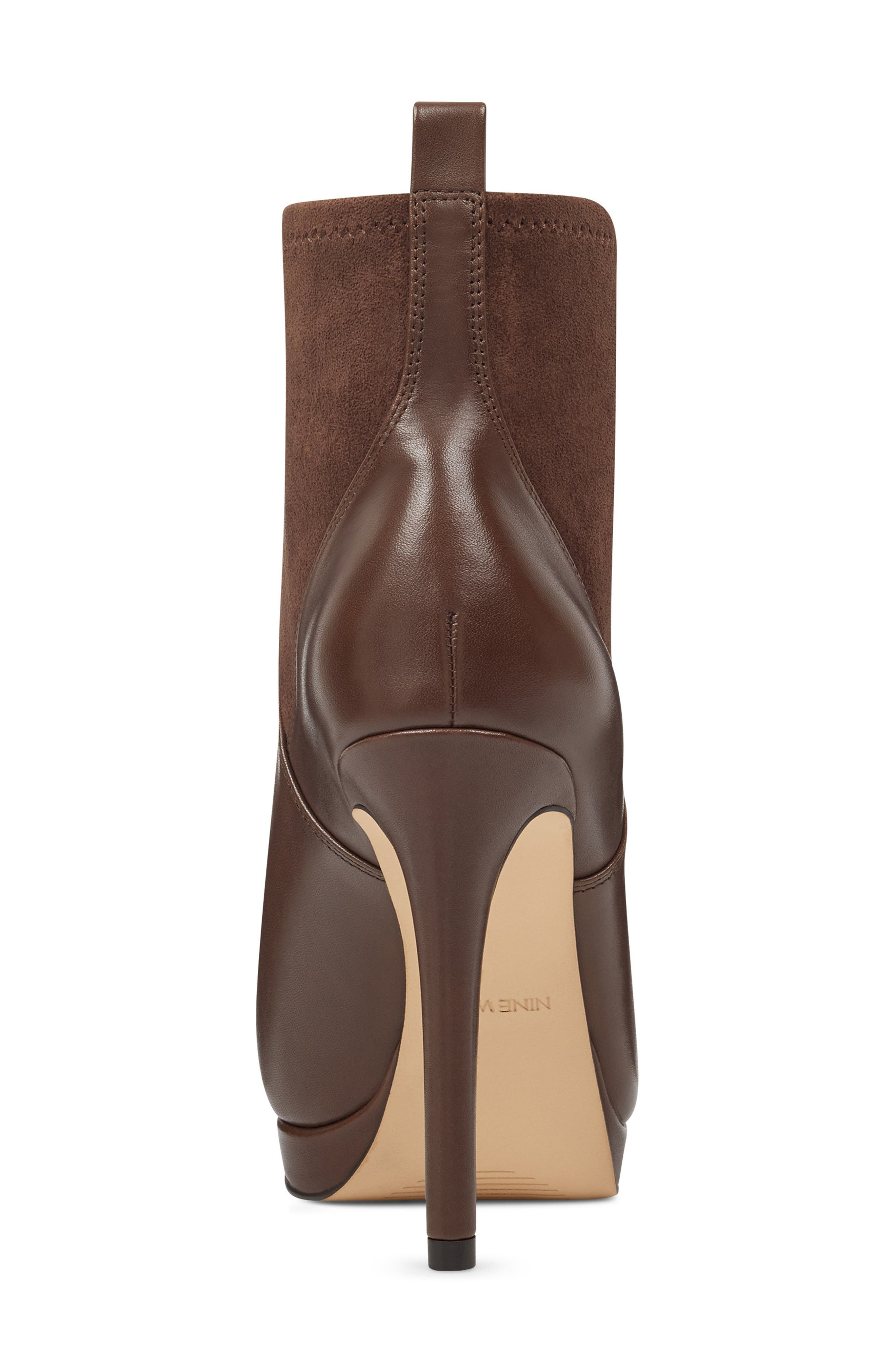 Quillen Stretch Bootie,                             Alternate thumbnail 7, color,                             BROWN LEATHER