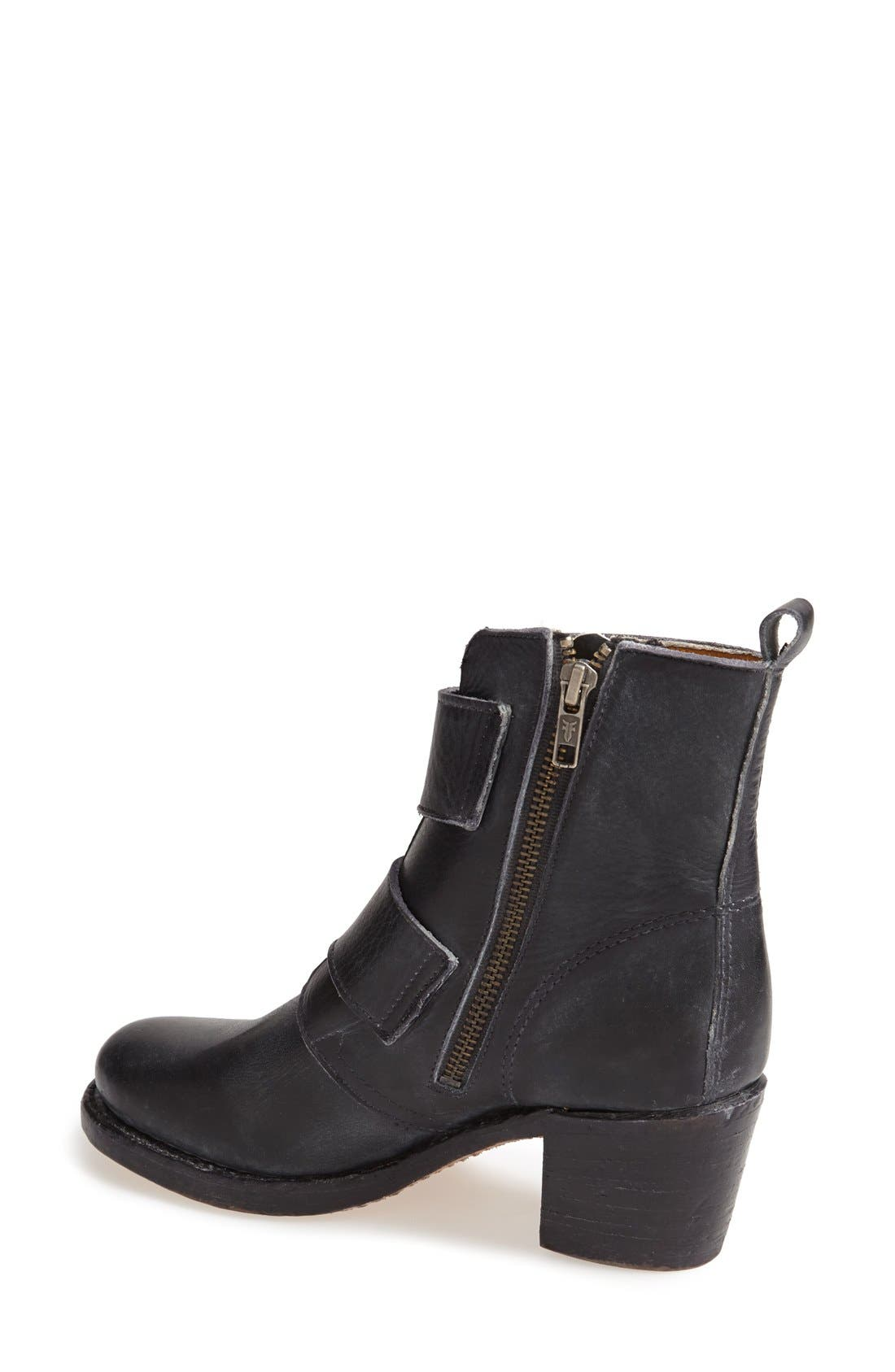 FRYE,                             'Sabrina' Double Buckle Bootie,                             Alternate thumbnail 2, color,                             001