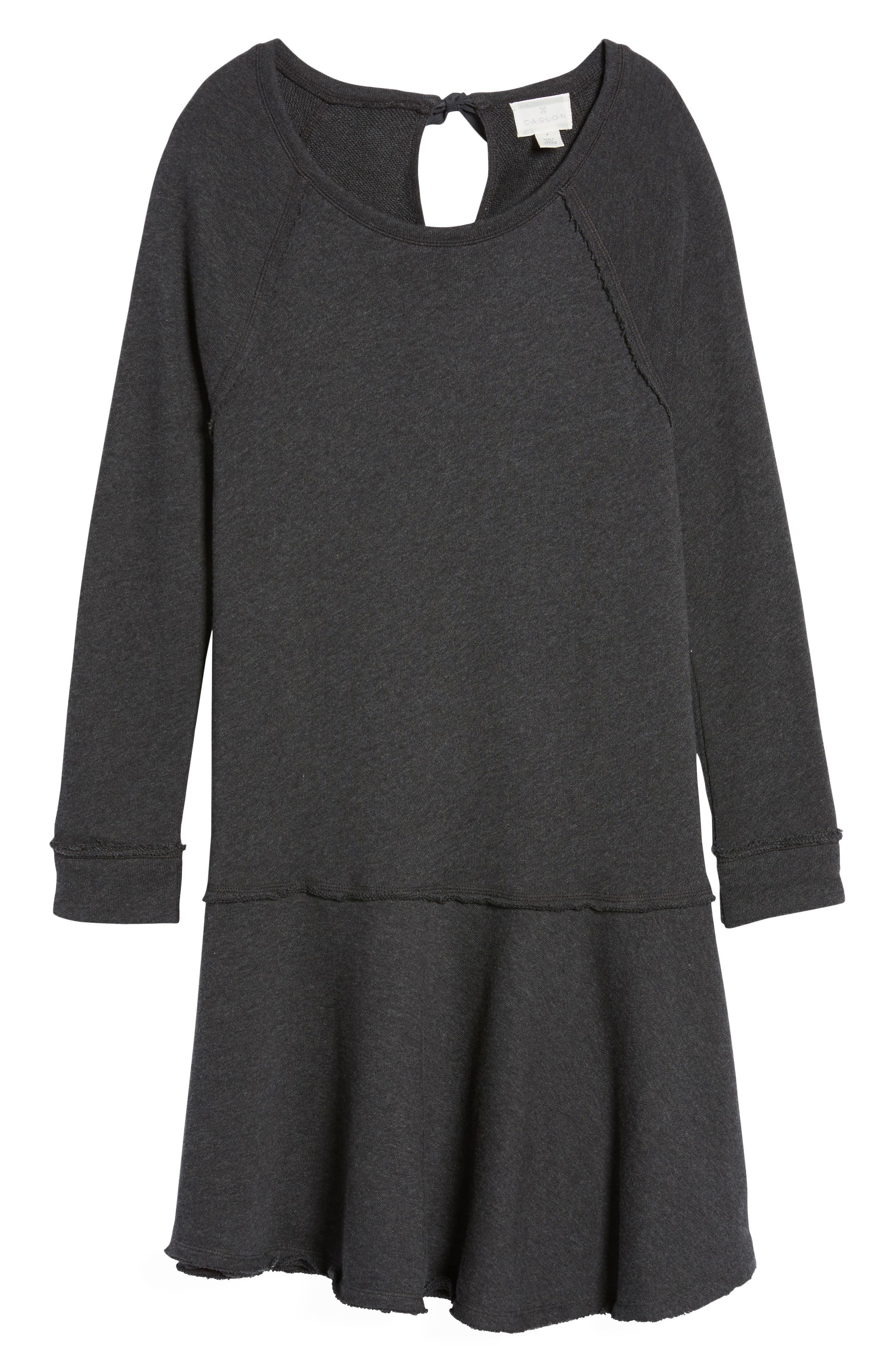 Ruffle Hem Knit Dress,                             Alternate thumbnail 6, color,                             021