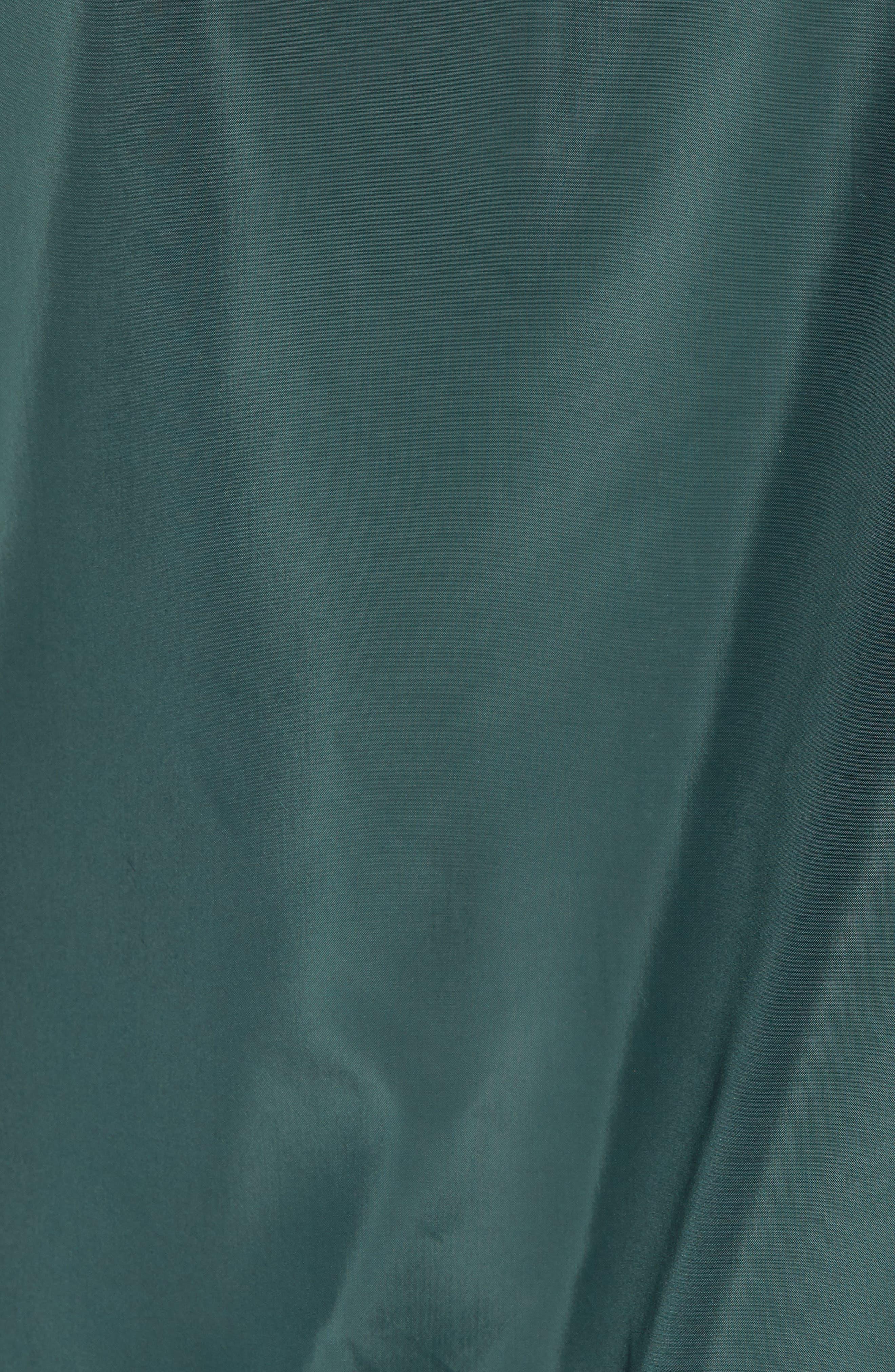 Colorblock Hooded Windbreaker Jacket,                             Alternate thumbnail 7, color,                             BLACK GREEN ODINITE