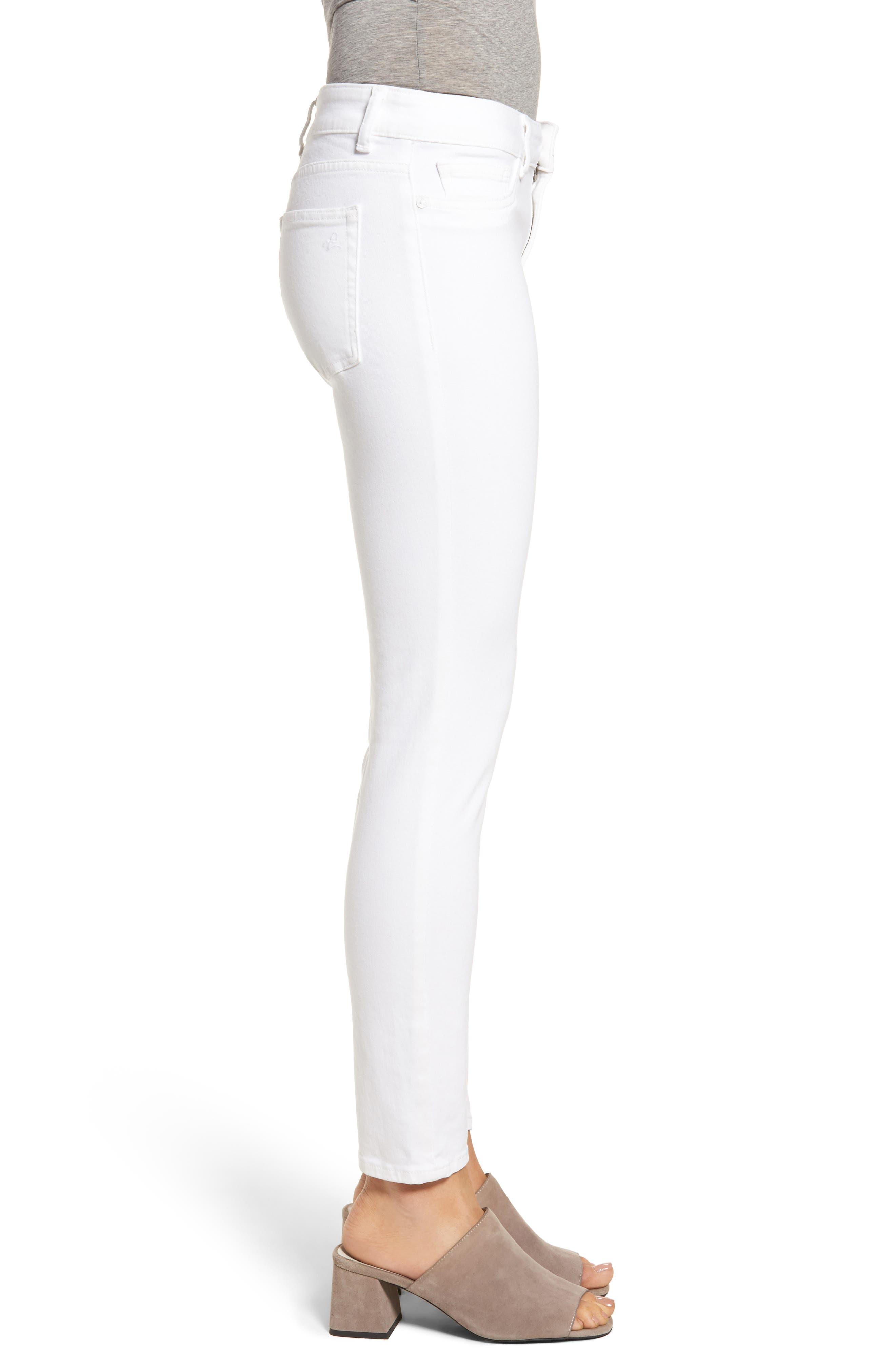 Margaux Instasculpt Ankle Skinny Jeans,                             Alternate thumbnail 3, color,                             PORCELAIN