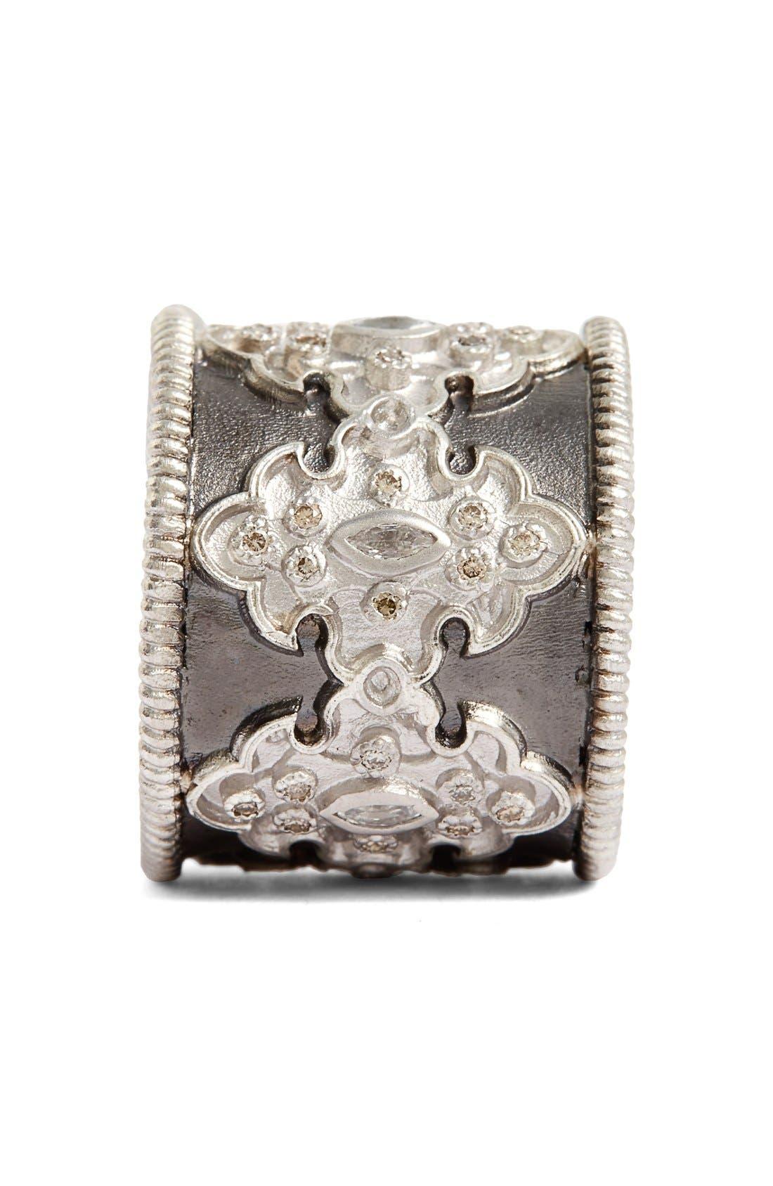 New World Scroll Diamond Band Ring,                             Alternate thumbnail 2, color,                             SILVER