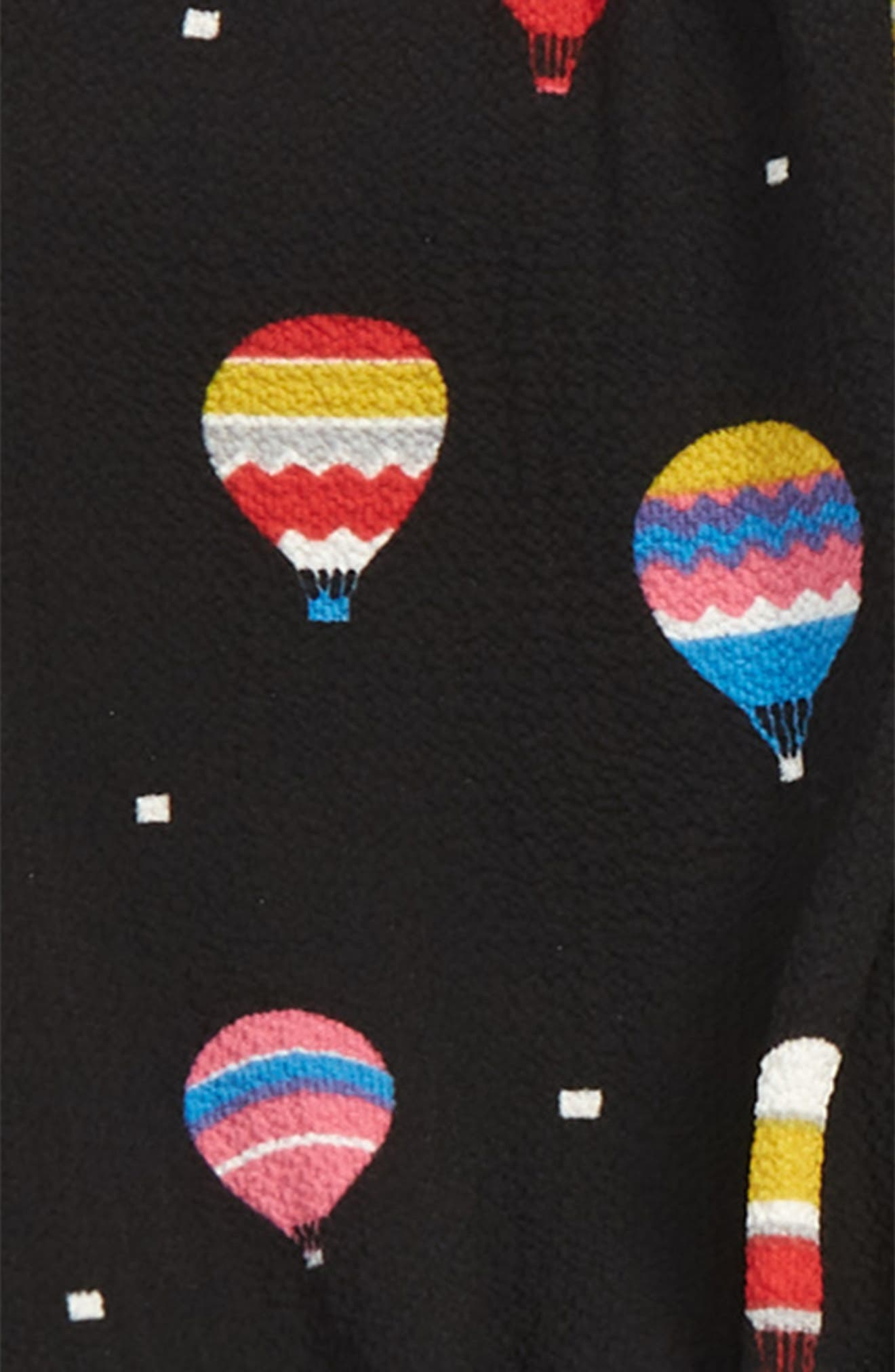 Hot Air Balloon Dress,                             Alternate thumbnail 2, color,                             BLACK