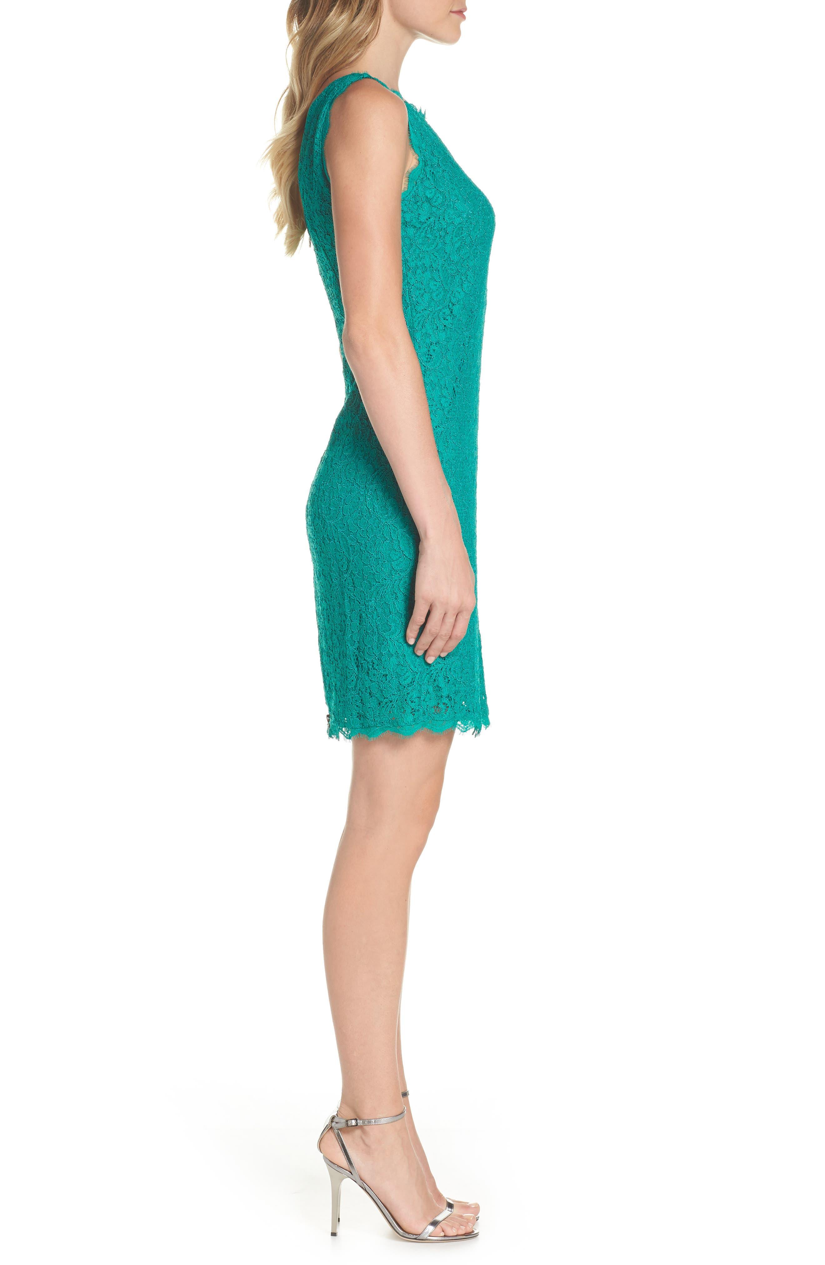 Boatneck Lace Sheath Dress,                             Alternate thumbnail 96, color,