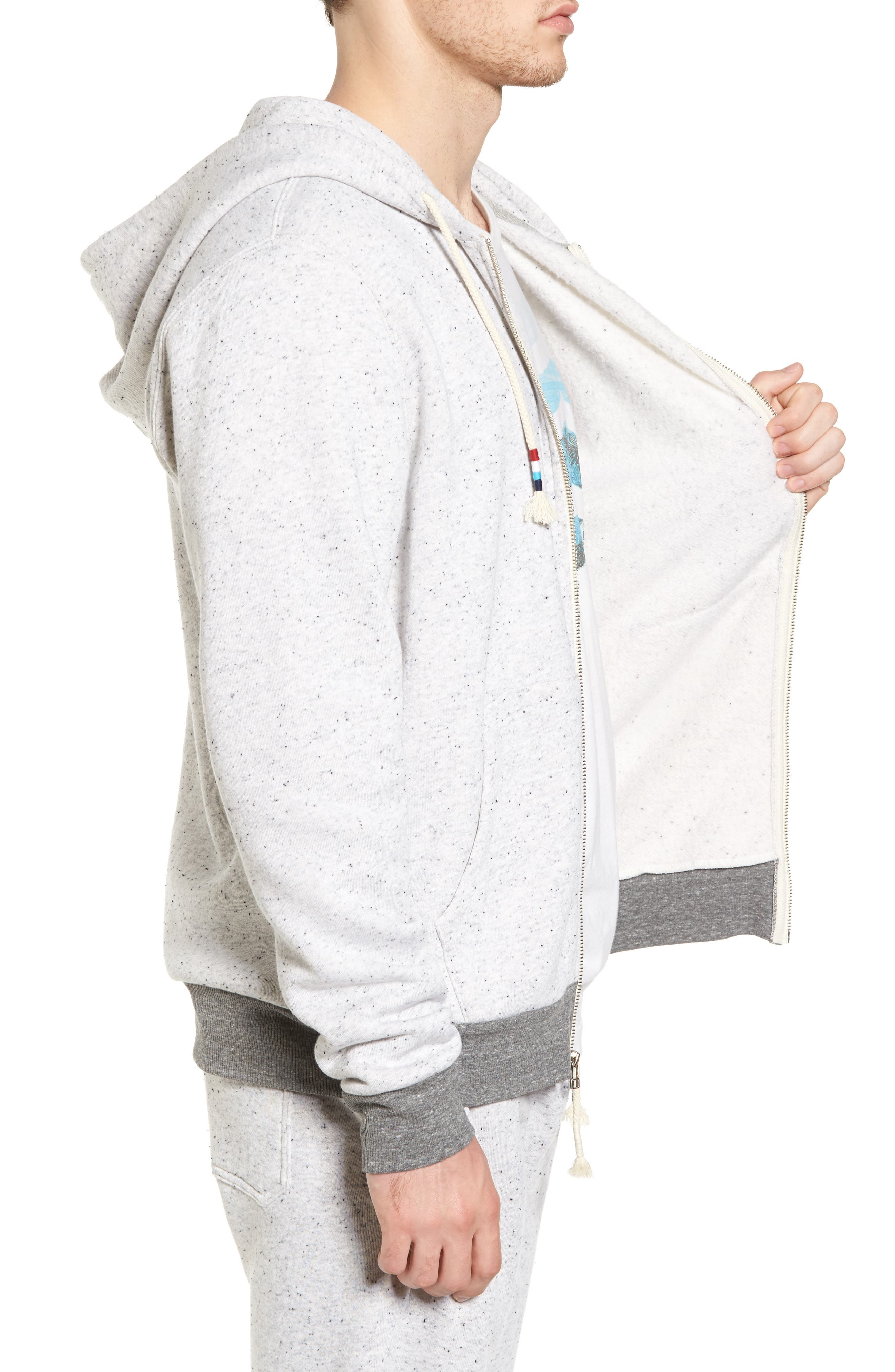 Peppered French Terry Hoodie,                             Alternate thumbnail 3, color,                             050