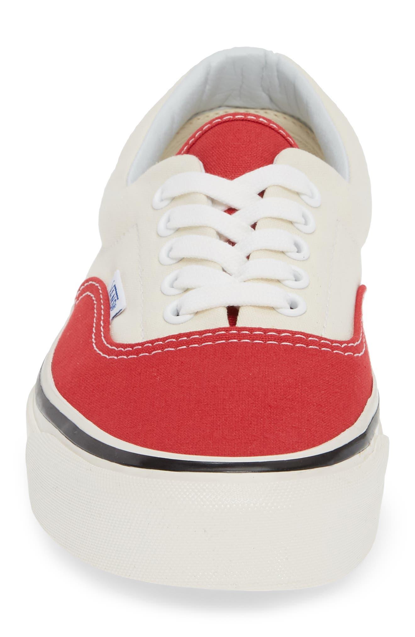 Anaheim Factory Era 95 DX Sneaker,                             Alternate thumbnail 4, color,                             OG RED/ OG WHITE CANVAS