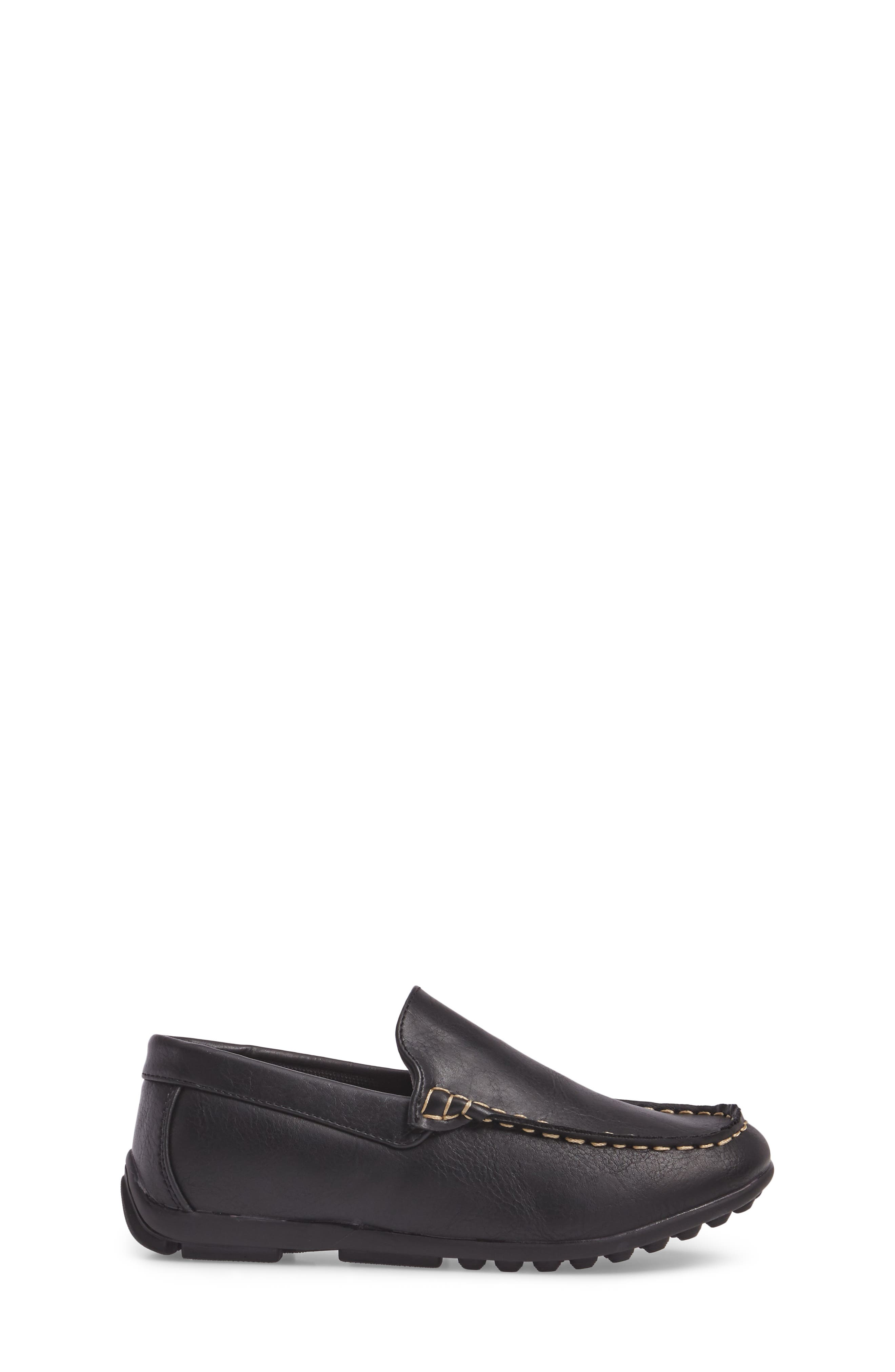 Compton Driving Loafer,                             Alternate thumbnail 3, color,                             BLACK