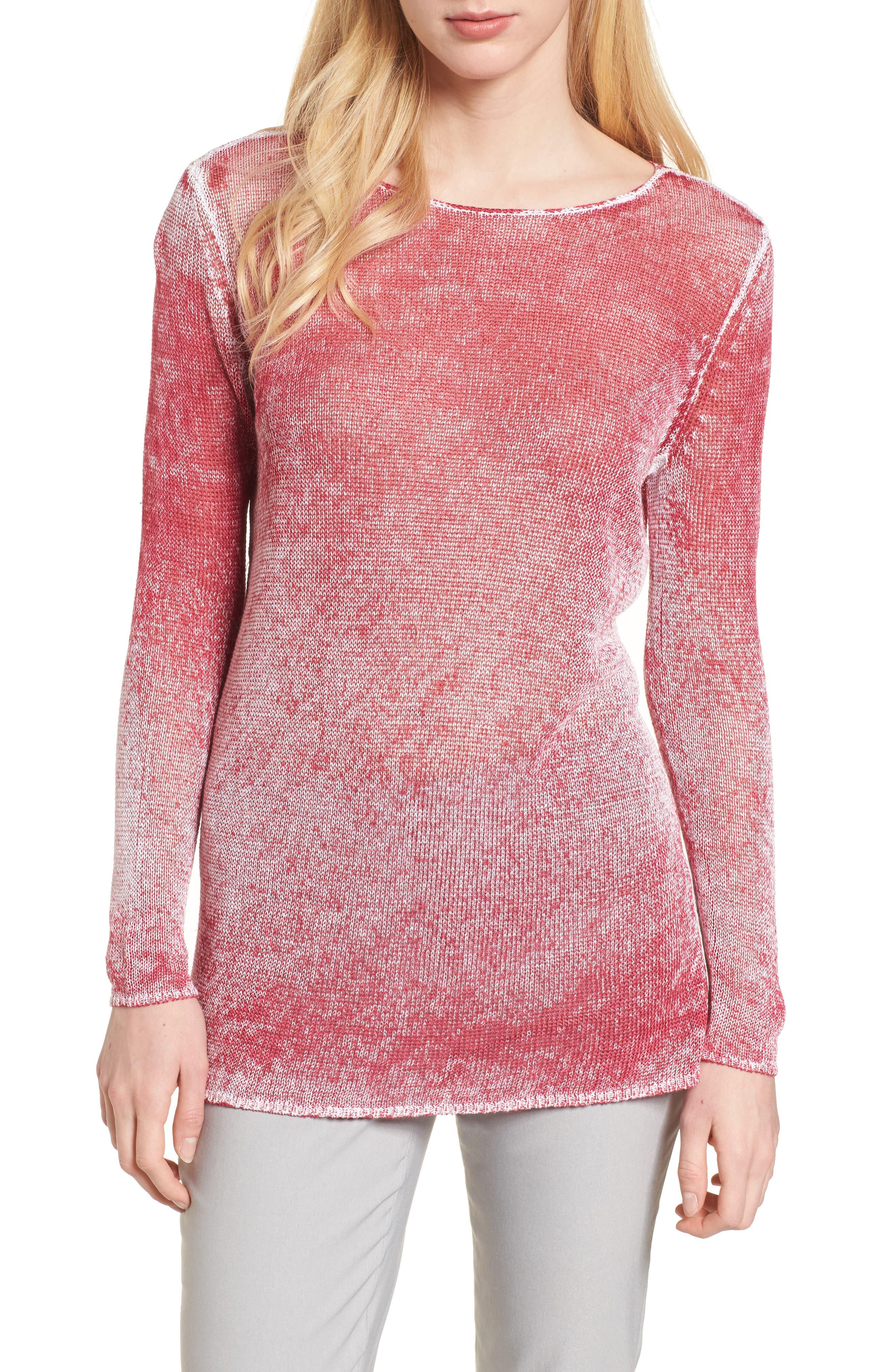 NIC + ZOE Poolside Linen Blend Sweater,                             Main thumbnail 3, color,