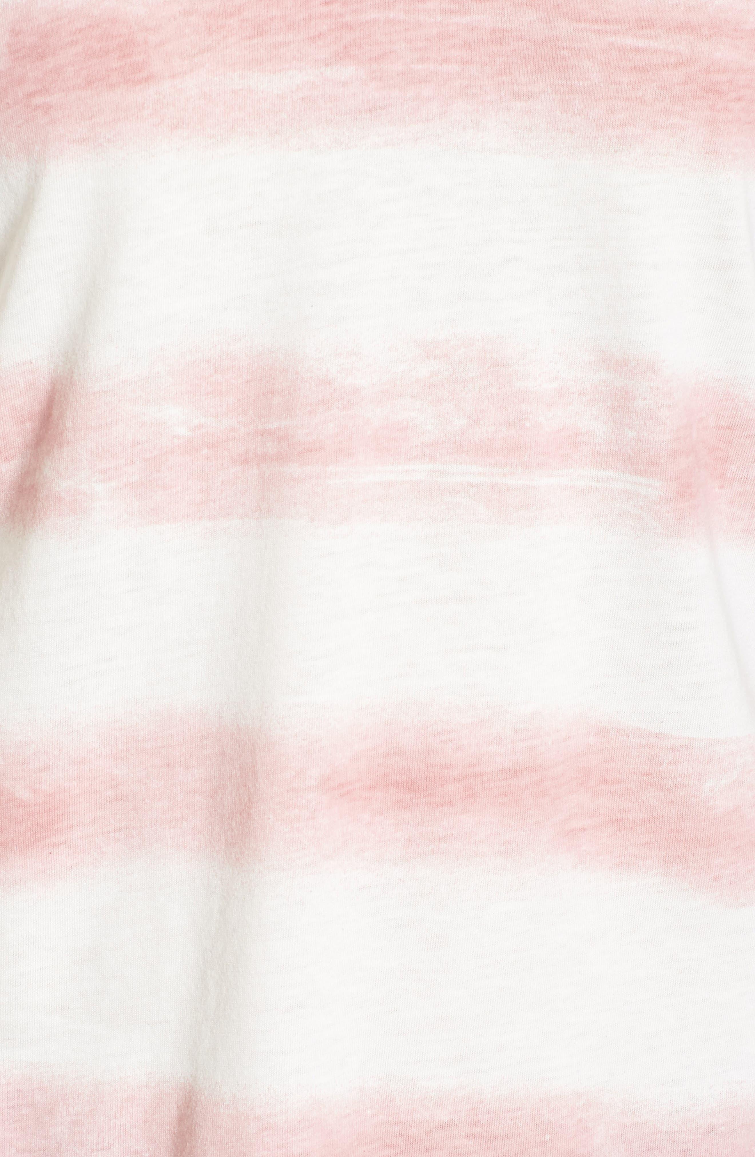 Stripe Roll Sleeve Tee,                             Alternate thumbnail 5, color,                             900