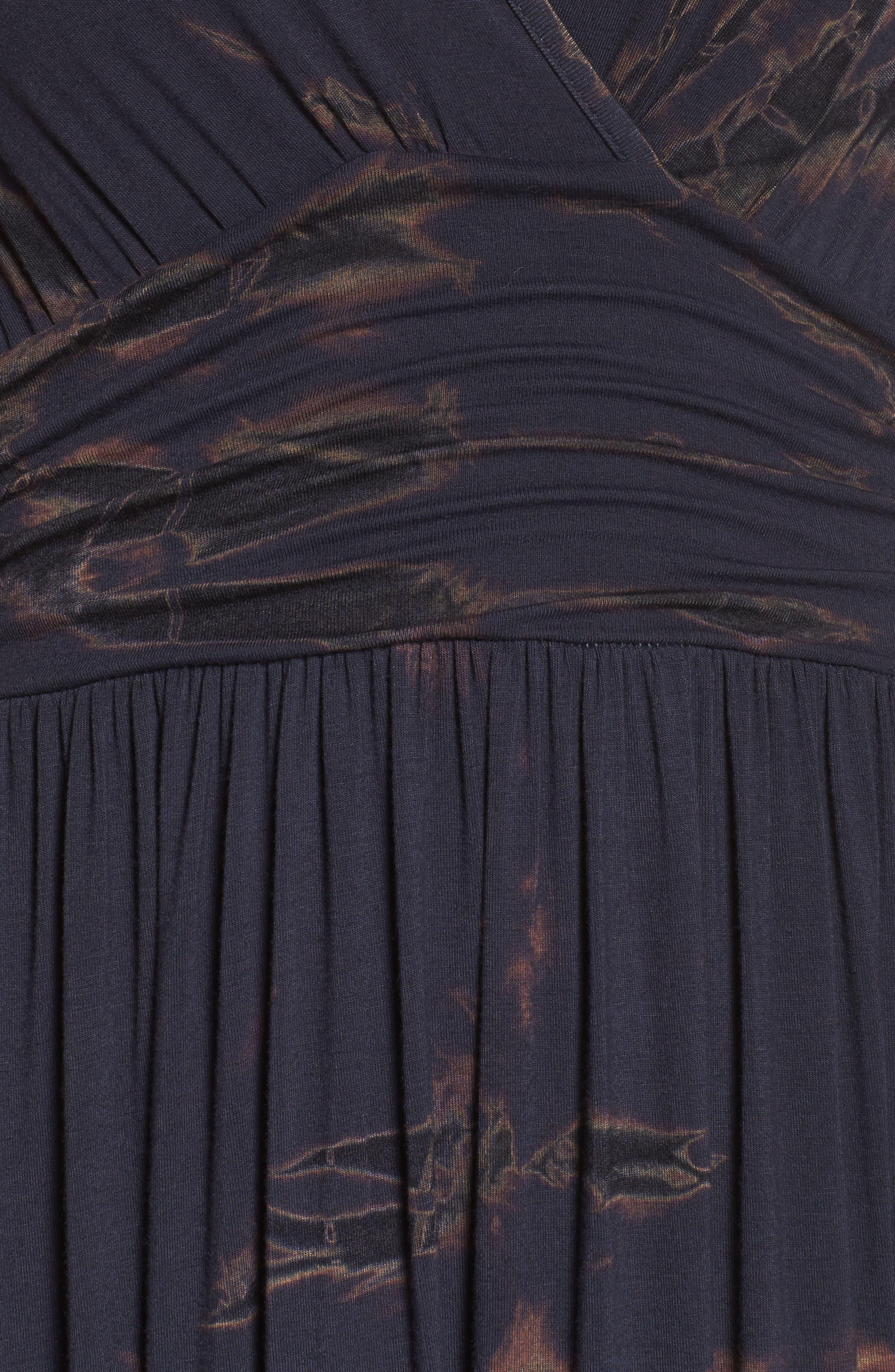 Tie Dye Ombré Jersey Maxi Dress,                             Alternate thumbnail 5, color,                             400