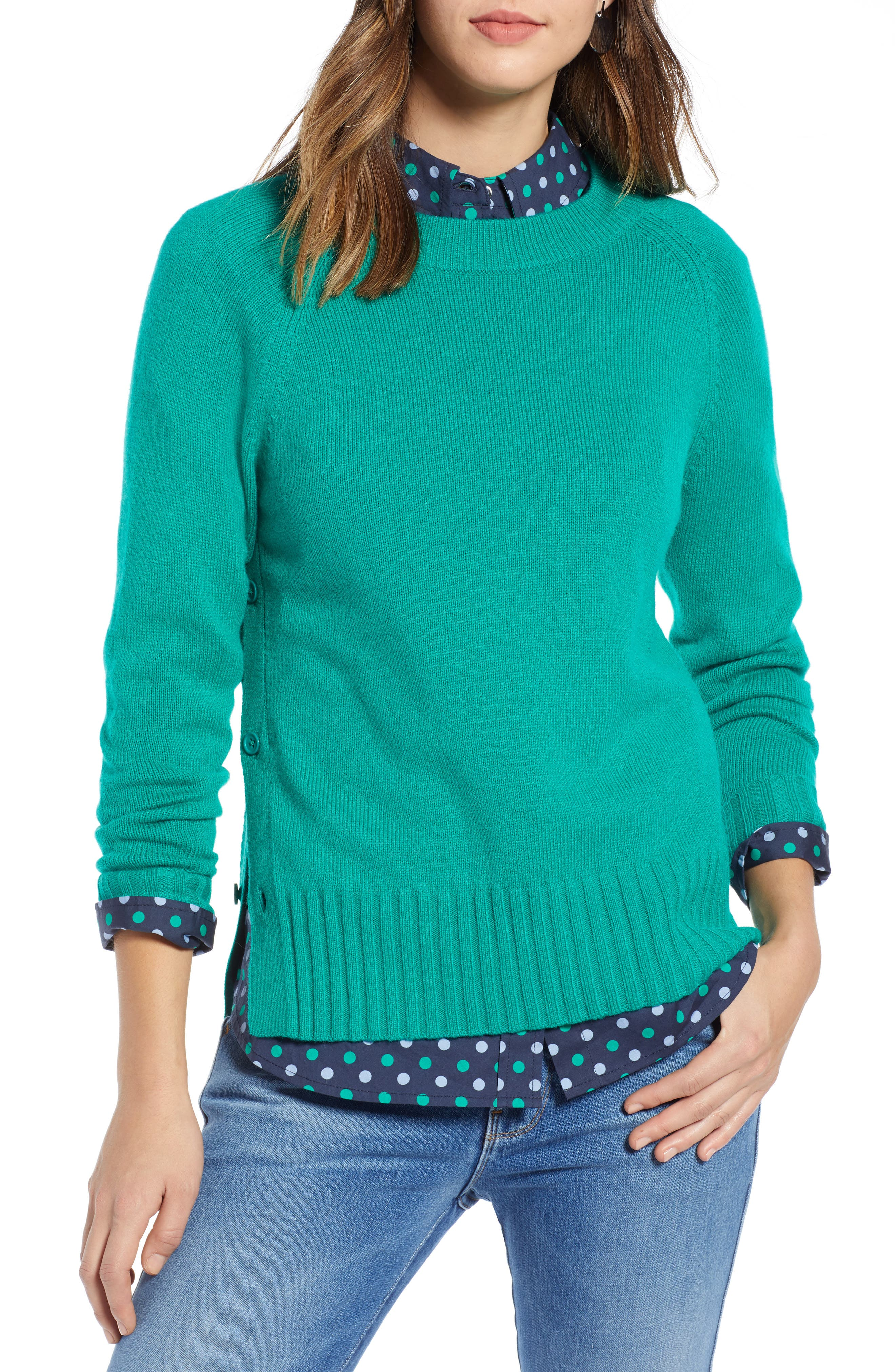 1901 Side Button Sweater, Main, color, 310