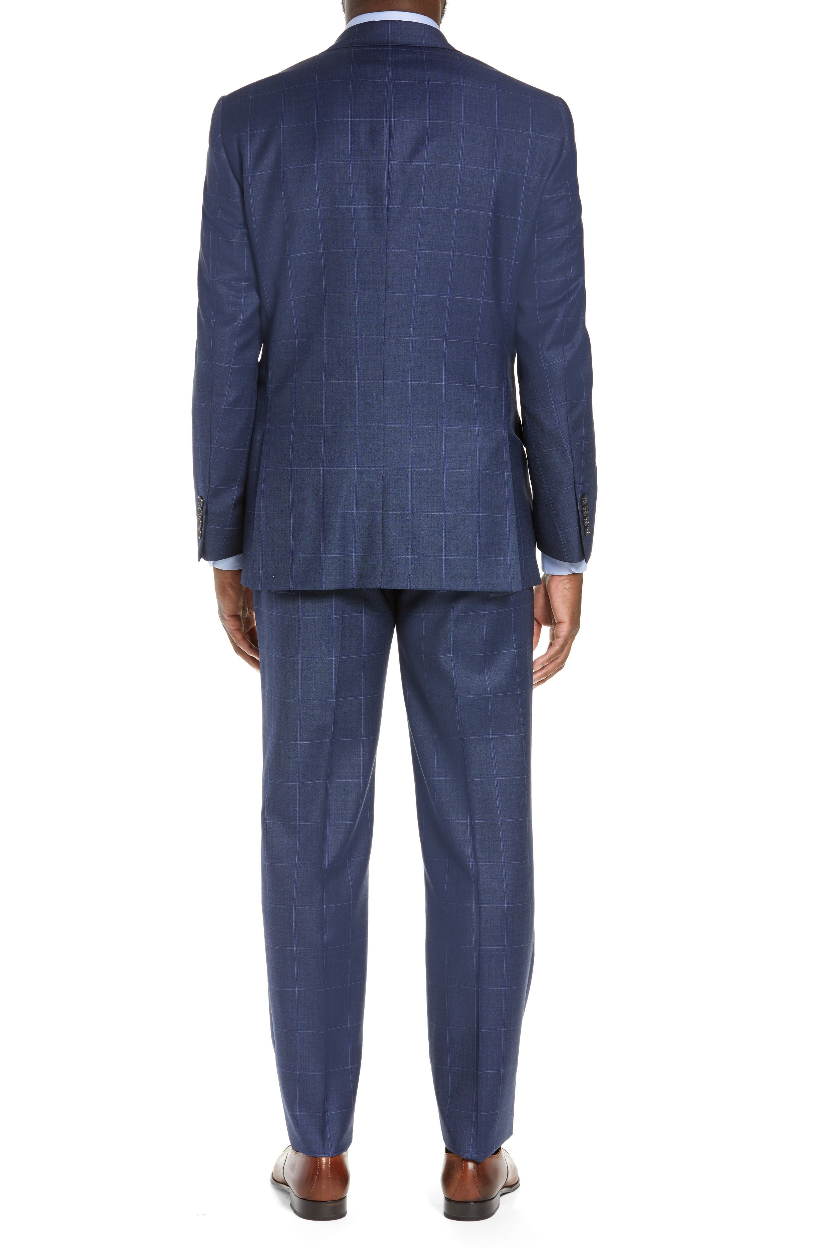 New York Classic Fit Windowpane Wool Suit,                             Alternate thumbnail 2, color,                             420