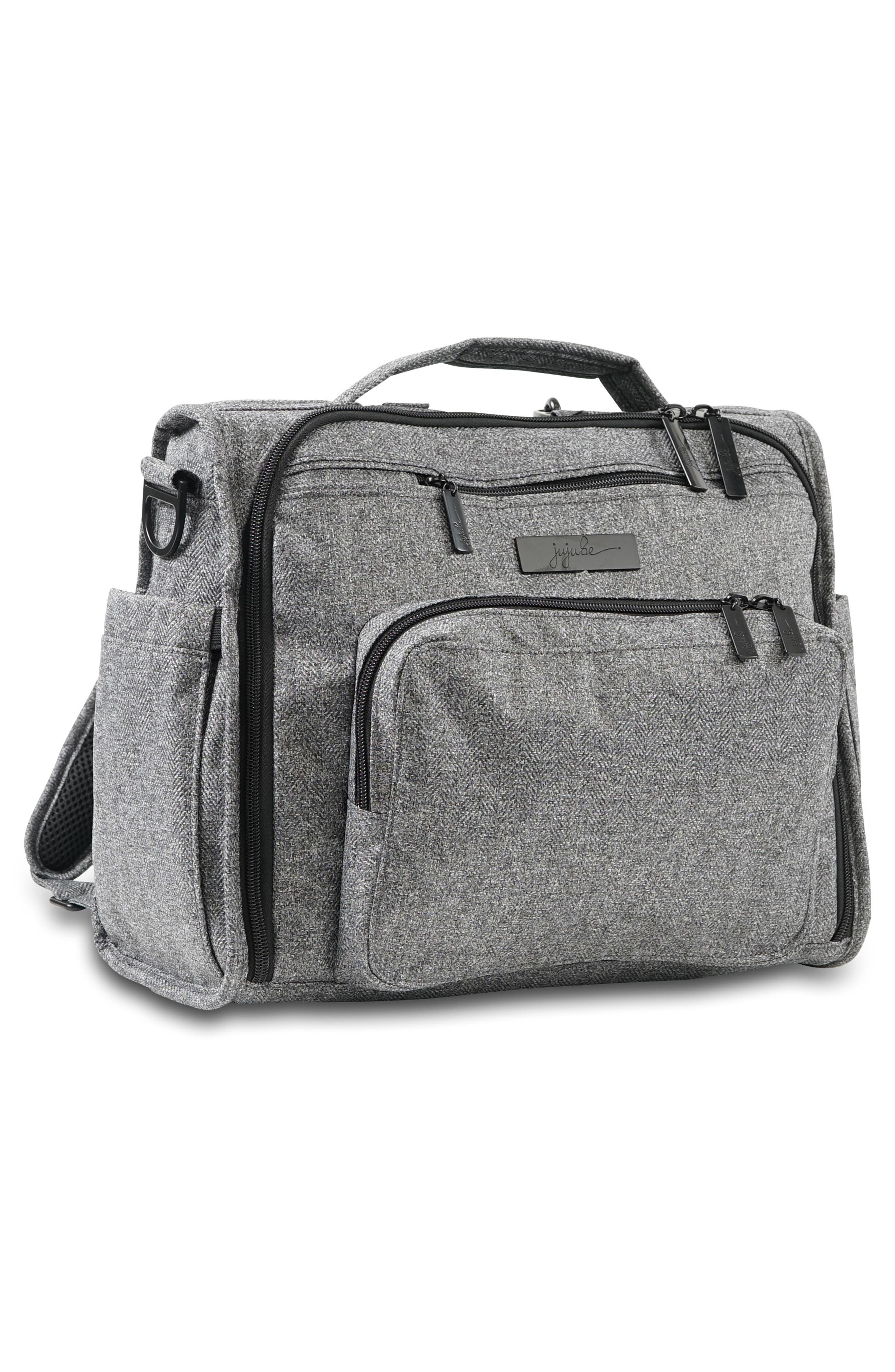 'BFF - Onyx Collection' Diaper Bag,                             Alternate thumbnail 4, color,                             GRAY MATTER