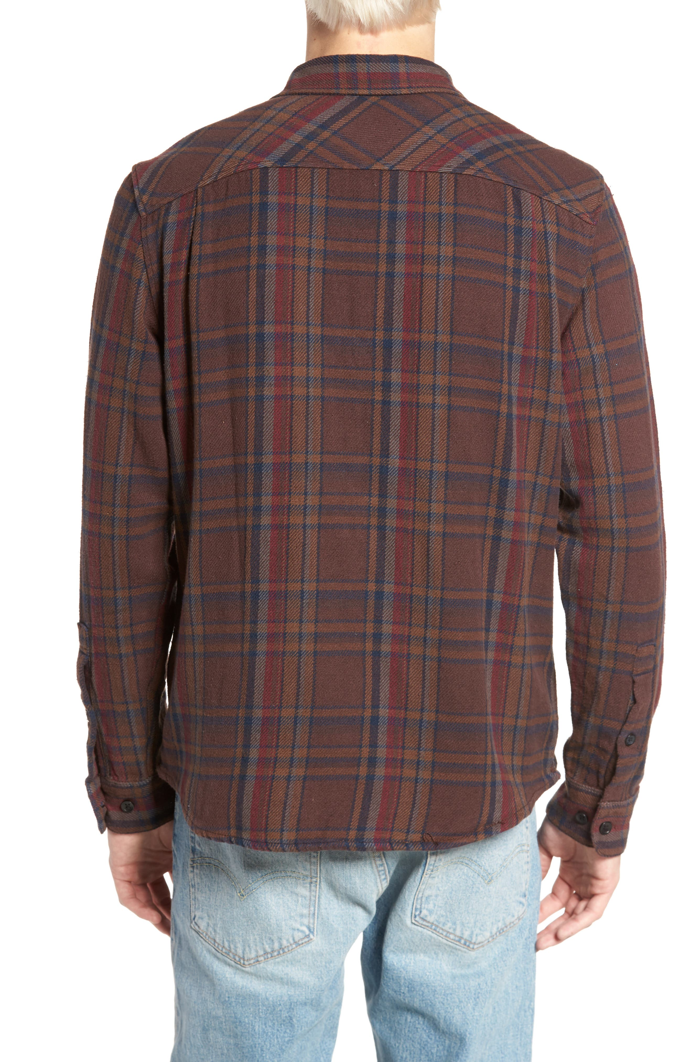 Camino Flannel Shirt,                             Alternate thumbnail 4, color,