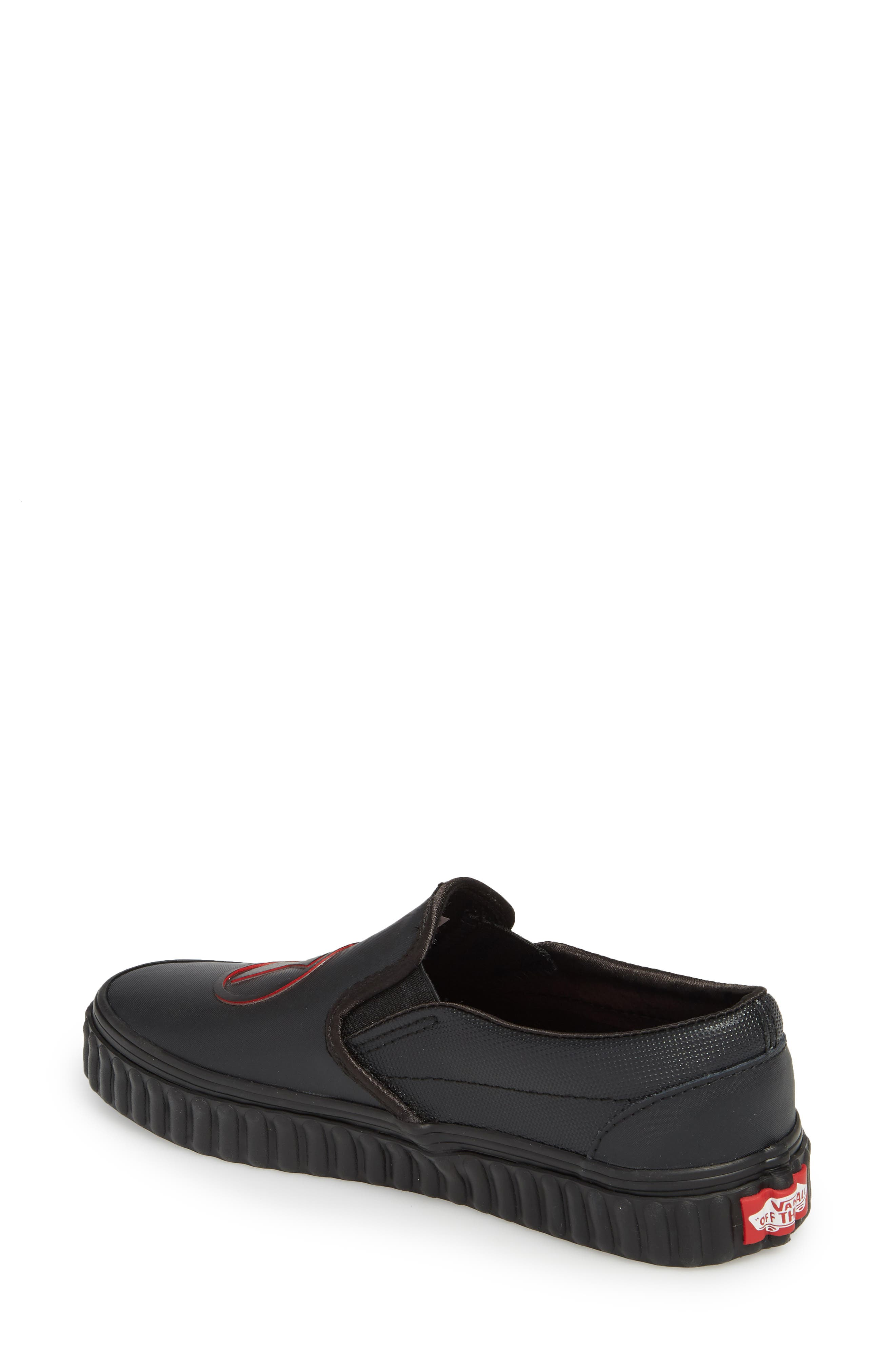 Marvel<sup>®</sup> Black Widow Classic Slip-On,                             Alternate thumbnail 2, color,                             MARVEL BLACK WIDOW/ BLACK