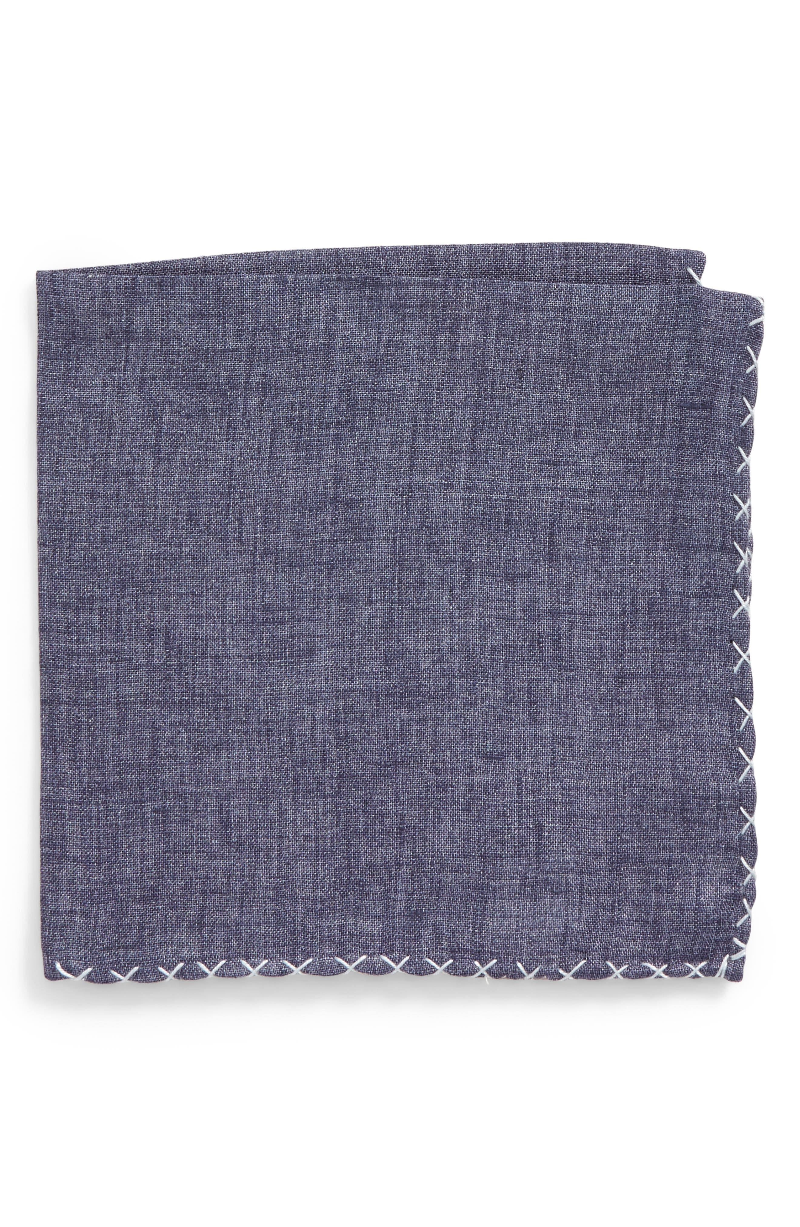 Solid Linen Pocket Square,                             Main thumbnail 1, color,                             020