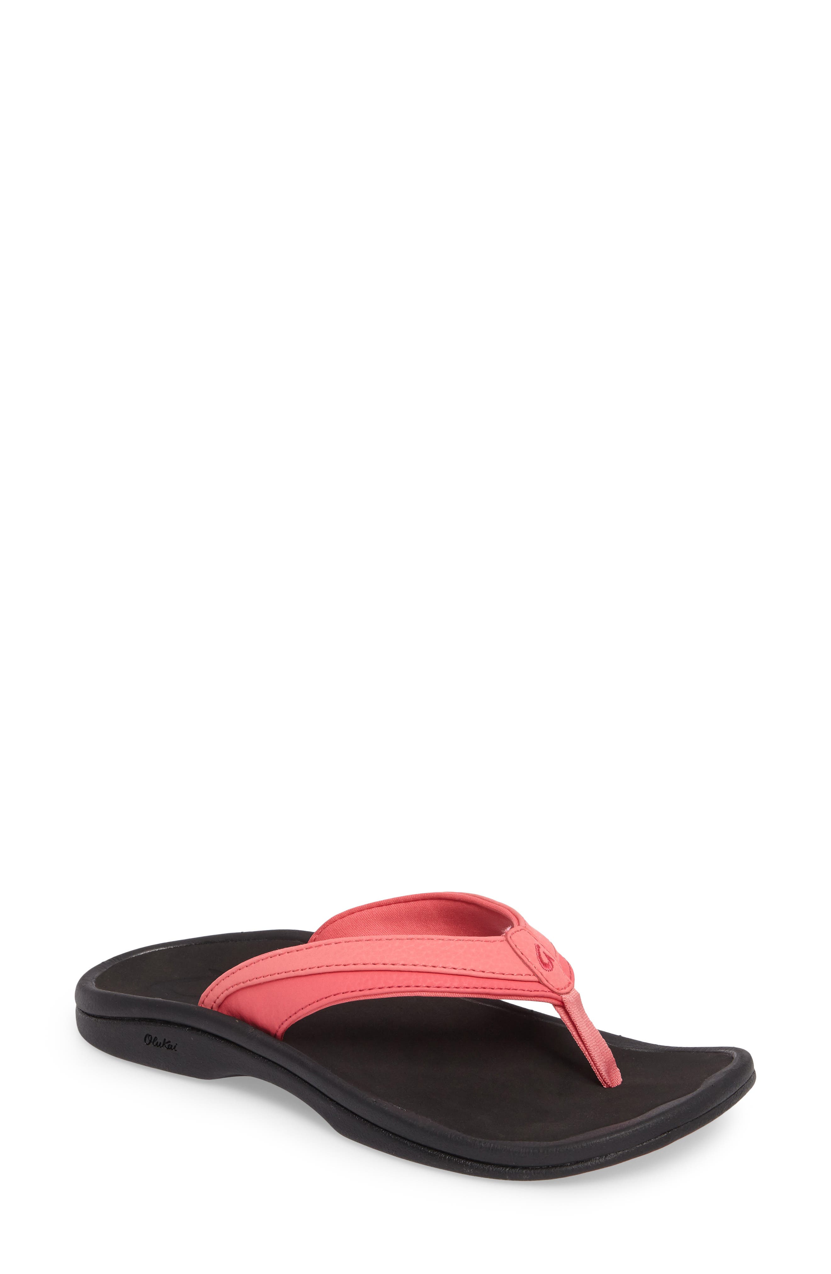 Ohana Sandal,                         Main,                         color, GUAVA JELLY/ BLACK FAUX