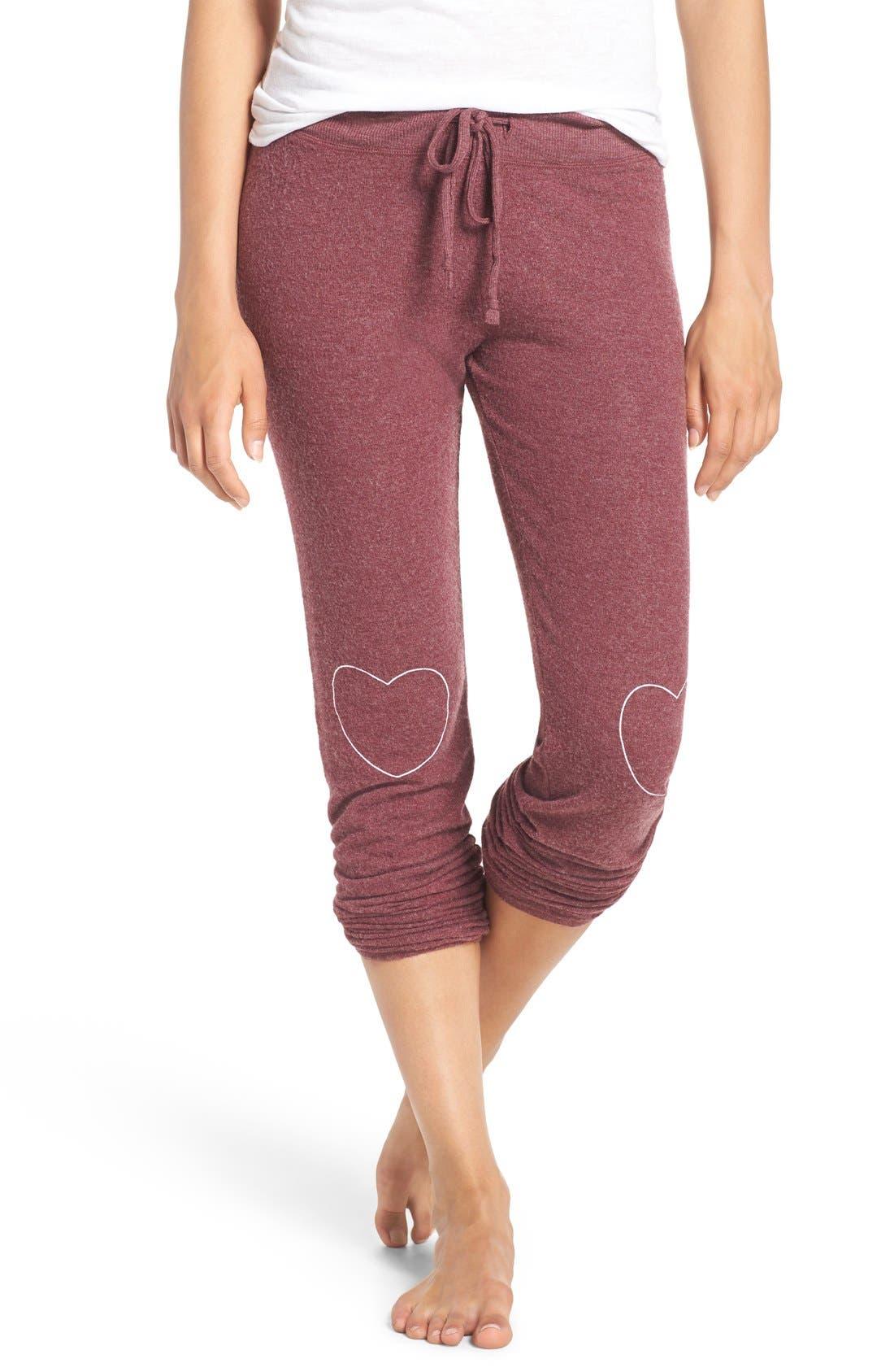 Heart Graphic Hacci Sweatpants, Main, color, 930
